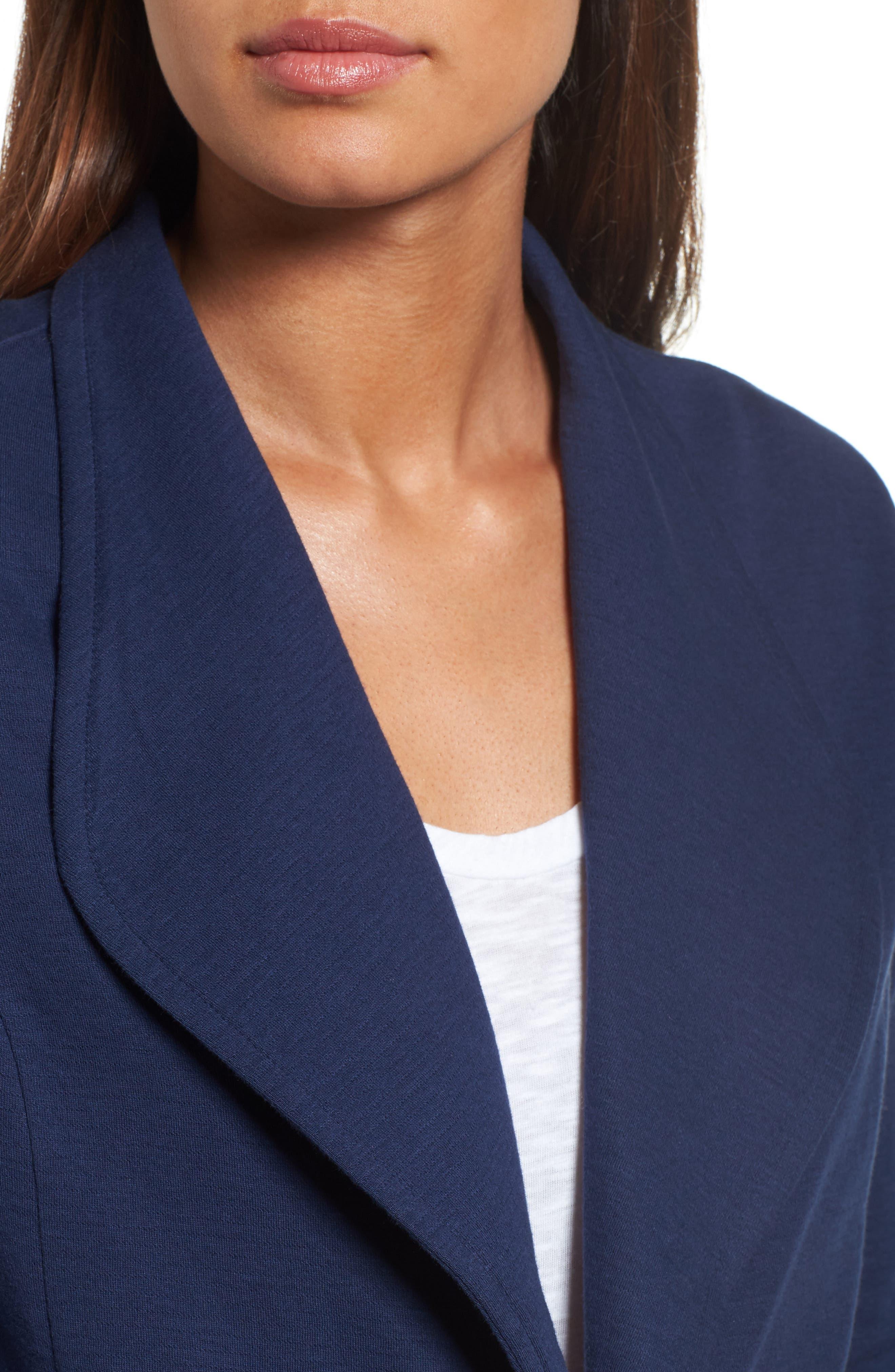 Alternate Image 4  - Caslon® Knit Blazer (Regular & Petite)