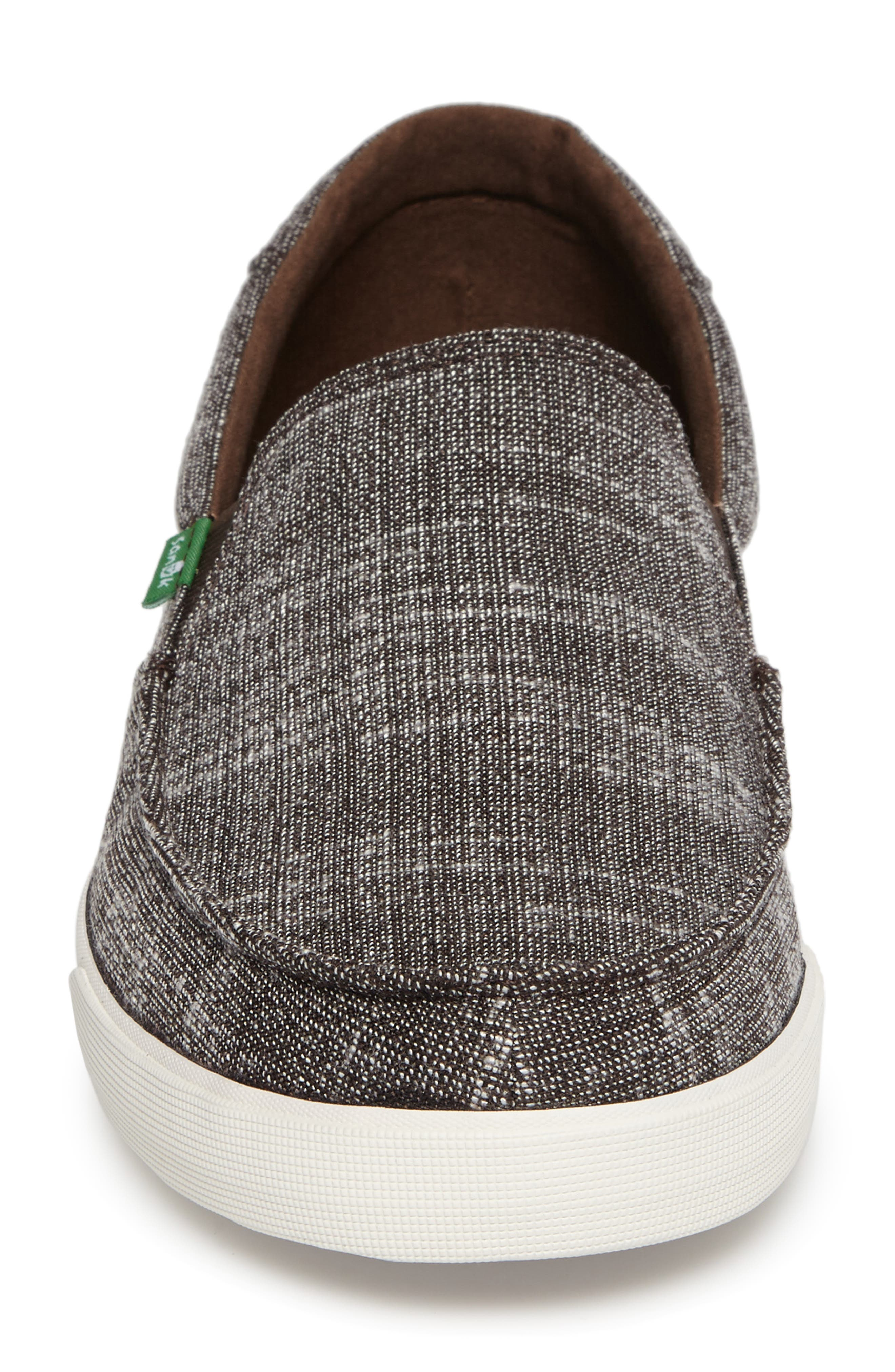 'Sideline' Linen Slip-On,                             Alternate thumbnail 4, color,                             Brown