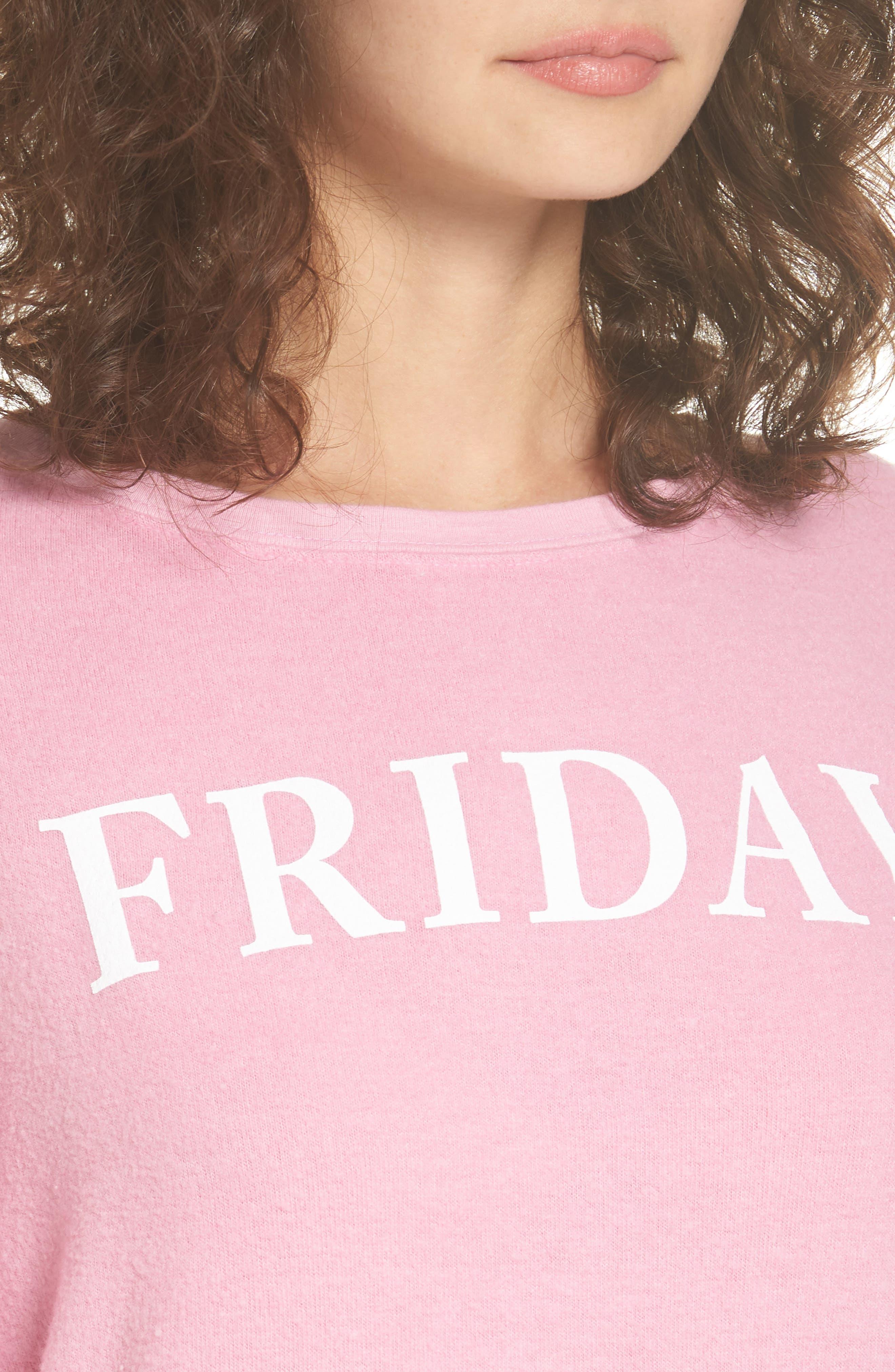 Friday Sweatshirt,                             Alternate thumbnail 4, color,                             Pink