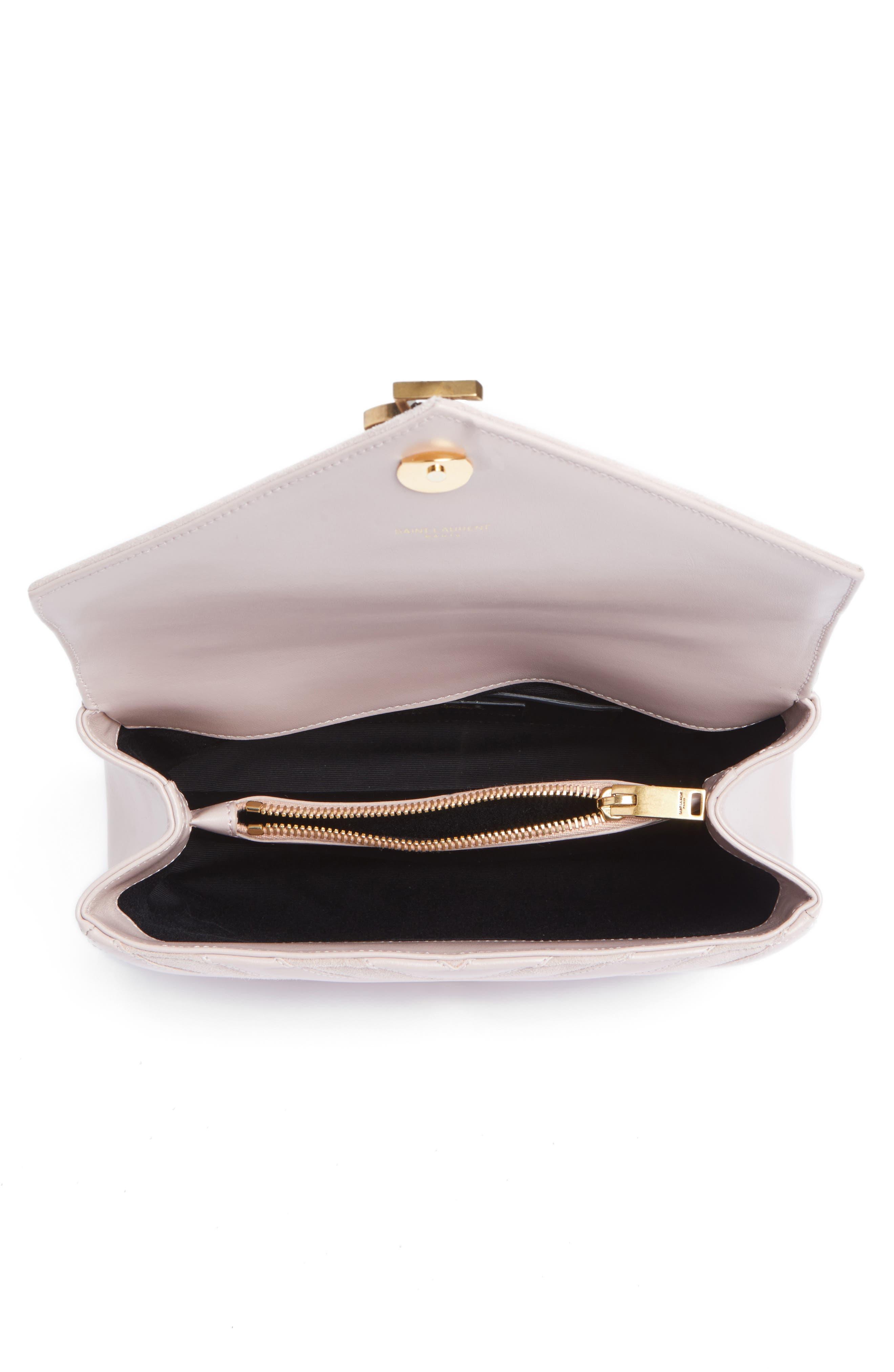 Alternate Image 4  - Saint Laurent Medium College Patchwork Suede & Leather Shoulder Bag