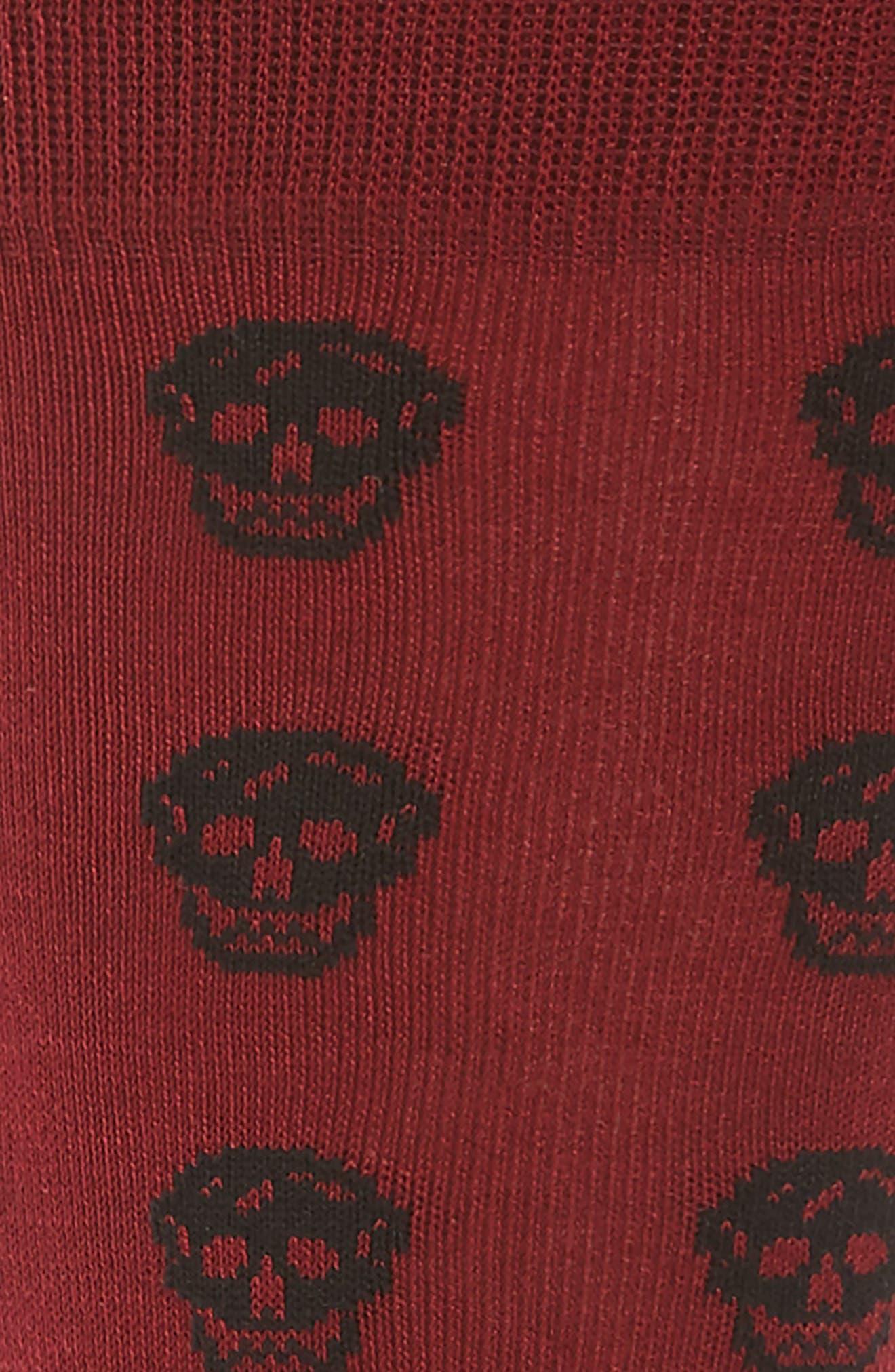 Alternate Image 2  - Alexander McQueen Skull Pattern Socks