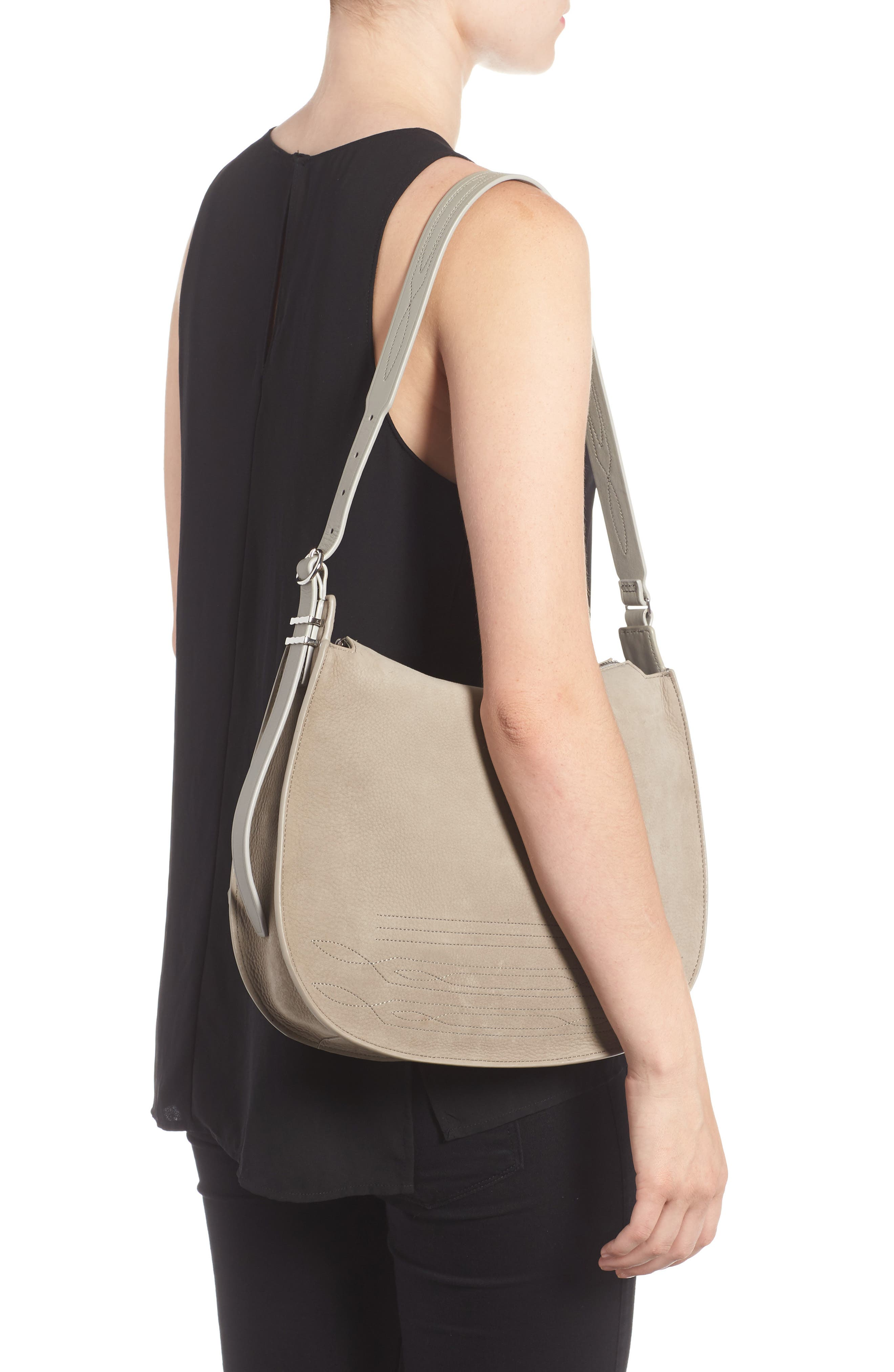 Cooper Nubuck Hobo,                             Alternate thumbnail 2, color,                             Light Cement Grey