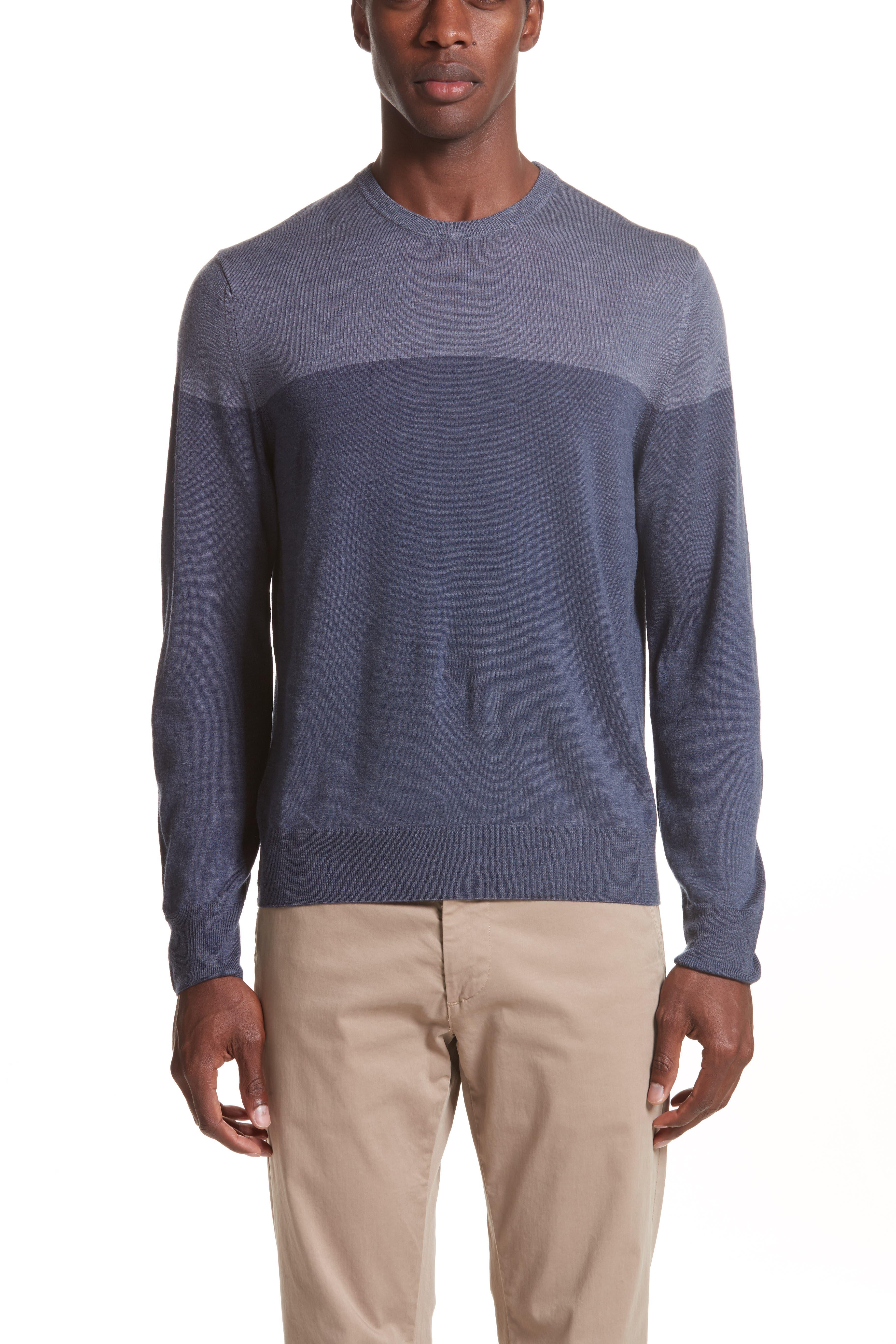 CANALI Colorblock Wool Sweater