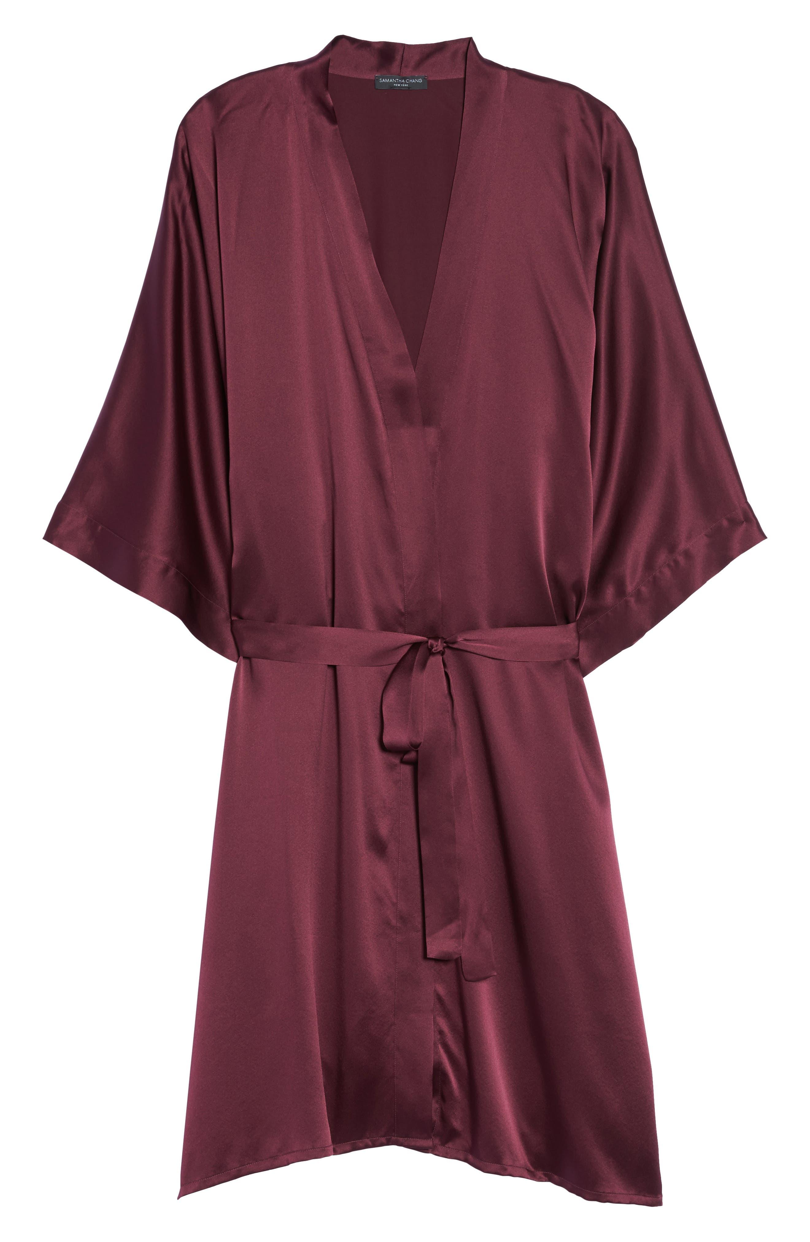 Silk Kimono,                             Alternate thumbnail 4, color,                             Fig