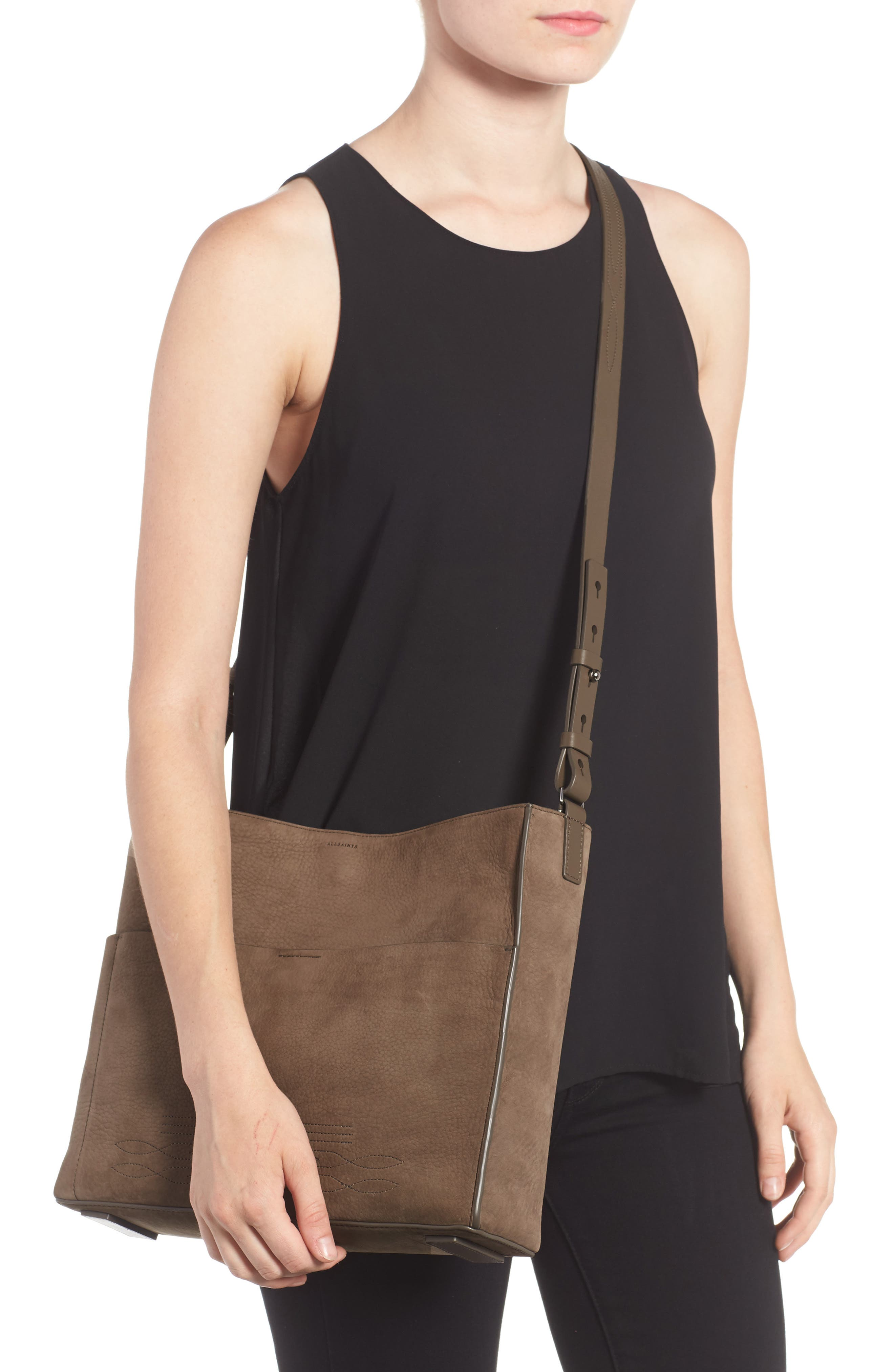 Alternate Image 2  - ALLSAINTS Cooper Nubuck Calfskin Leather Tote