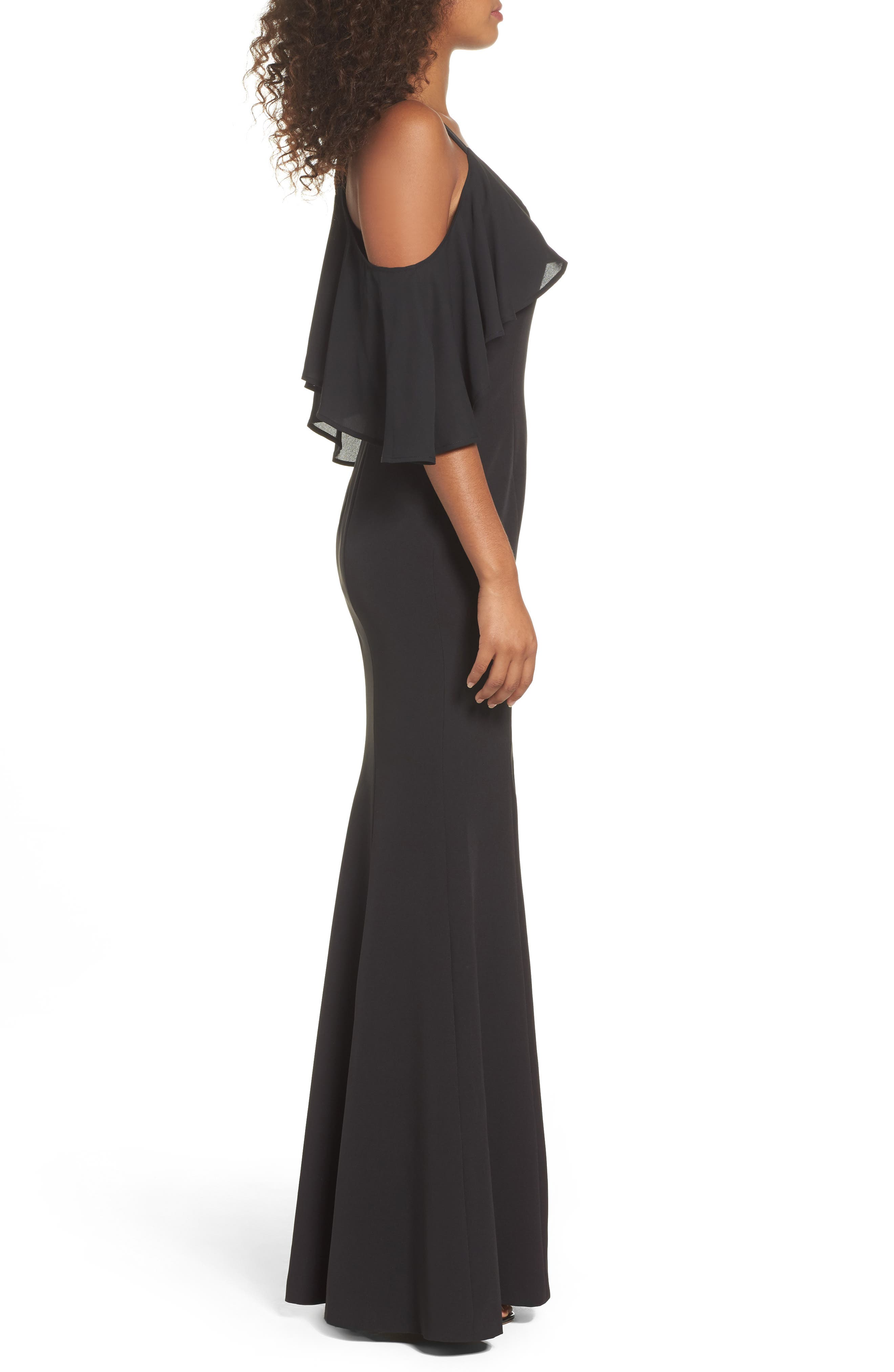 Alternate Image 3  - Jay by Jay Godfrey Naomi Cold Shoulder Gown