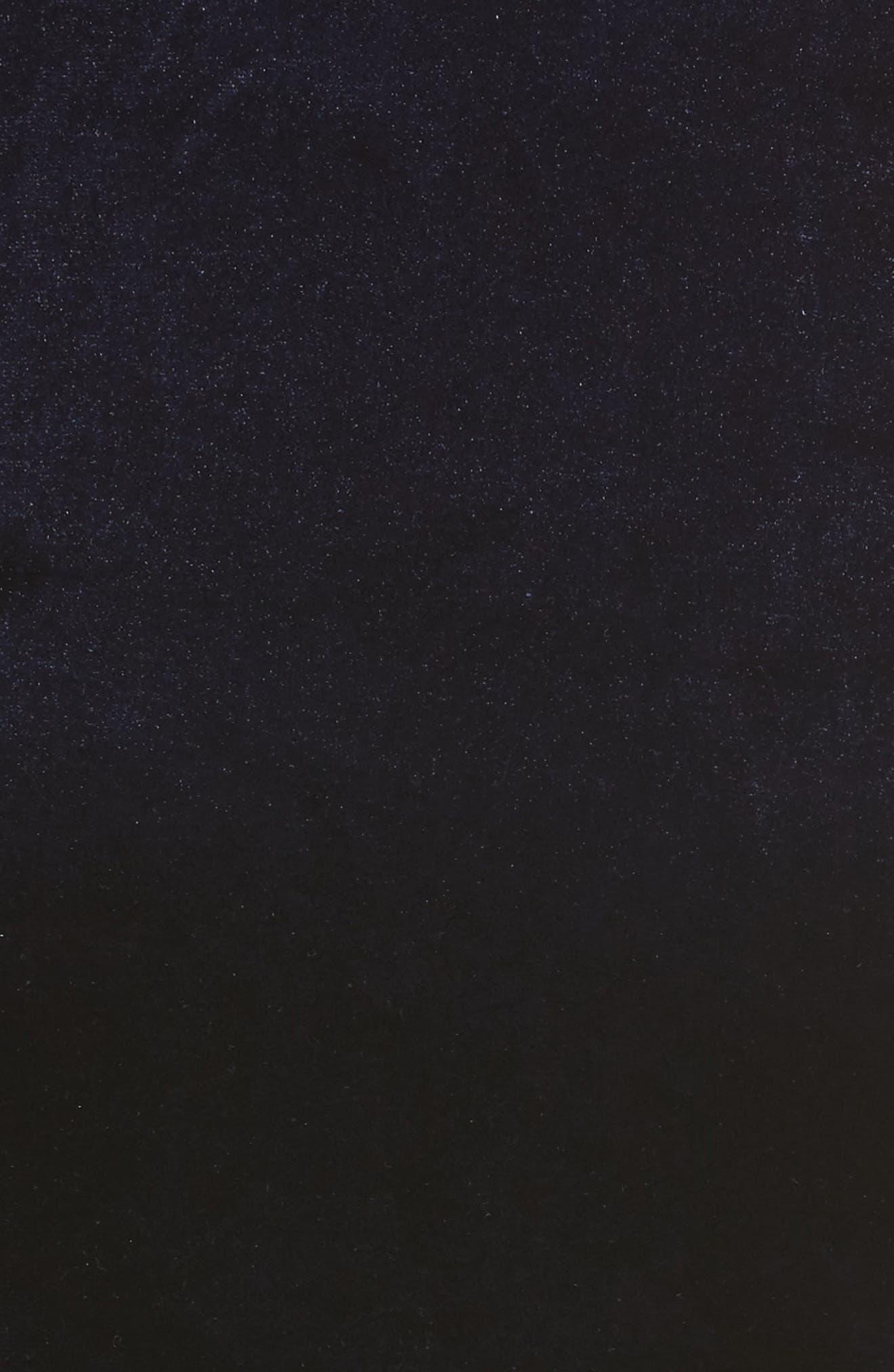 One-Shoulder Velvet Body-Con Dress,                             Alternate thumbnail 5, color,                             Navy
