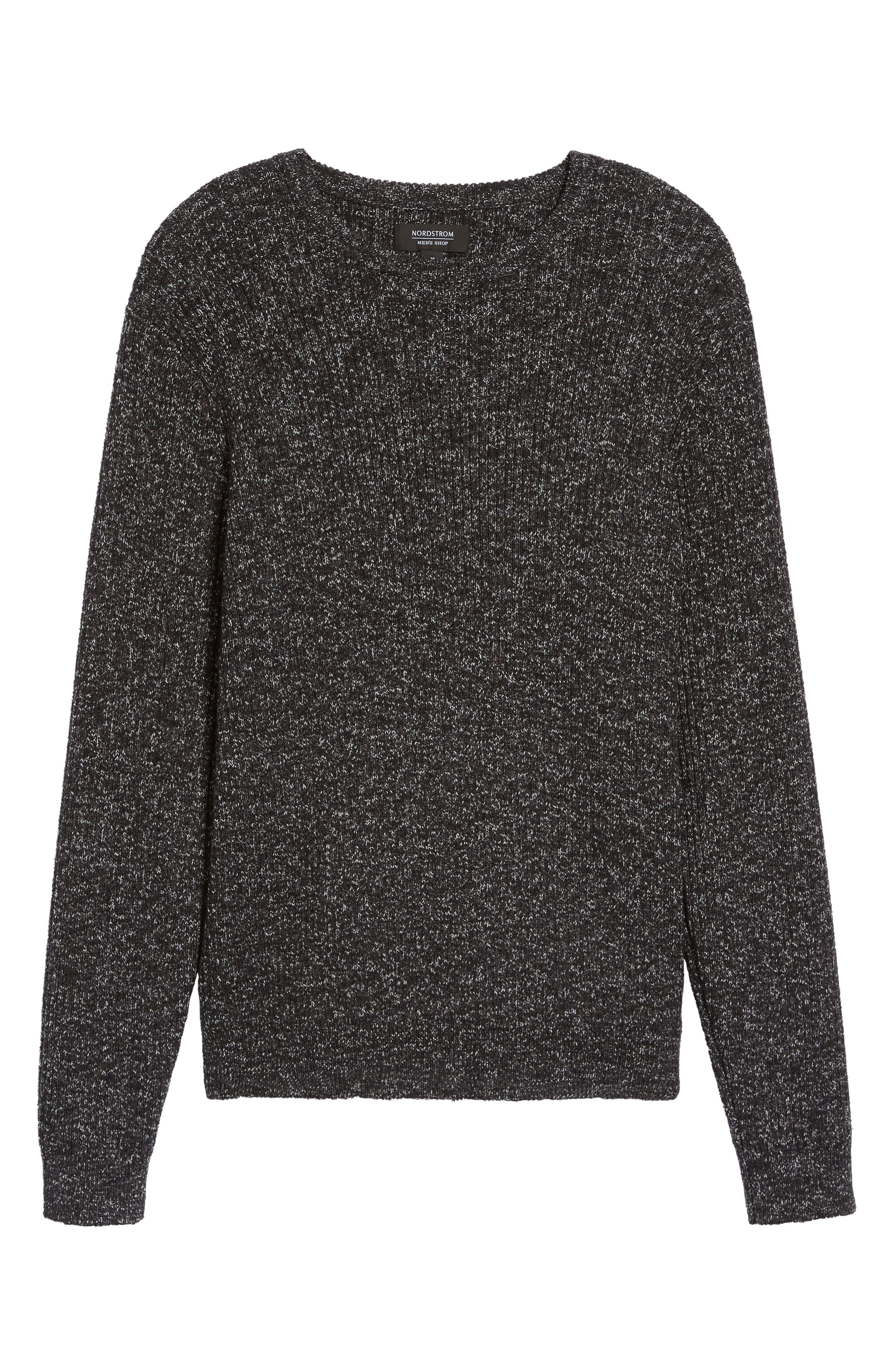 Donegal Space Dye Nep Sweater,                             Alternate thumbnail 6, color,                             Charcoal Donegal