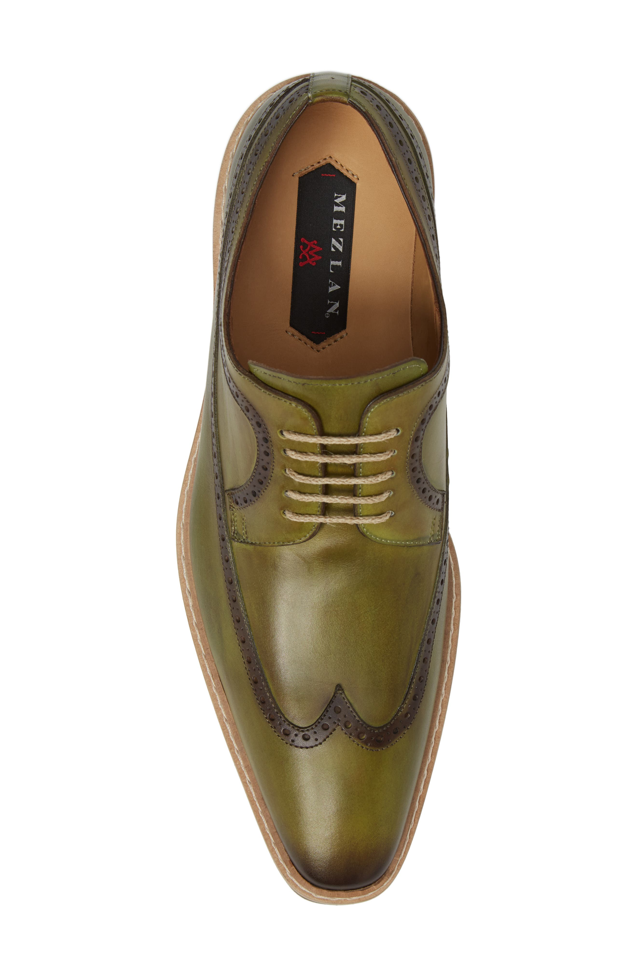 Maraval Wingtip,                             Alternate thumbnail 5, color,                             Olive Leather