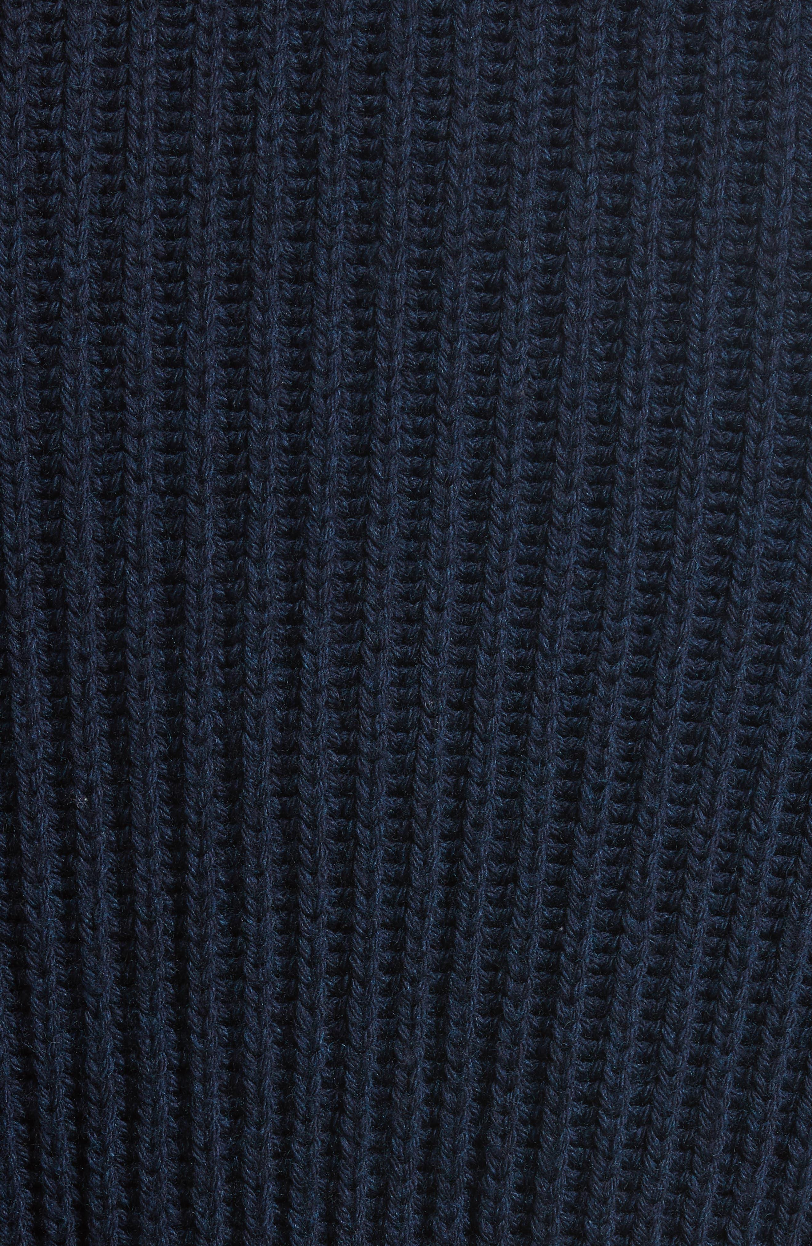 Belted English Rib Shawl Collar Cardigan,                             Alternate thumbnail 5, color,                             Deep Well
