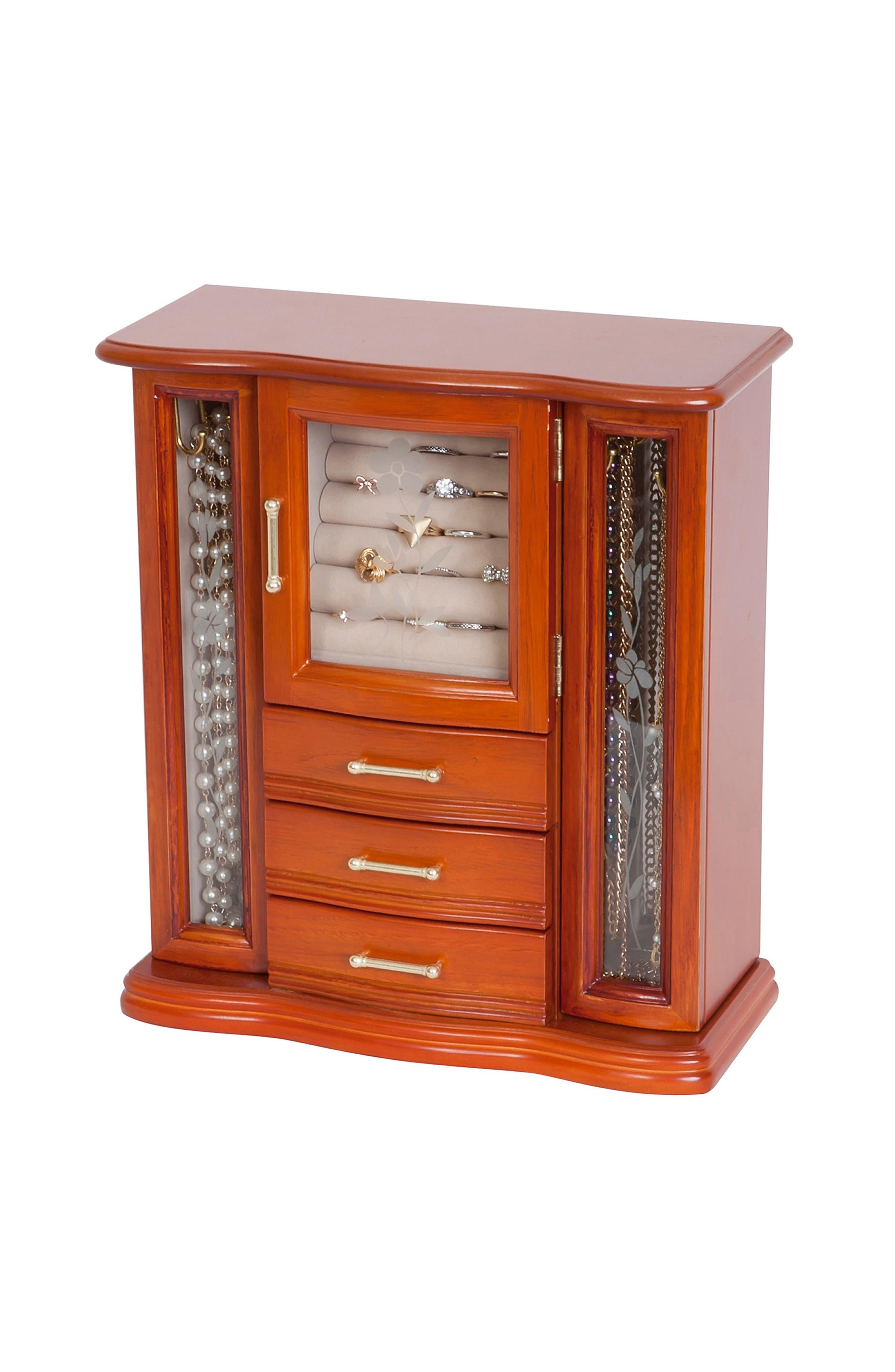 Richmond Jewelry Box,                         Main,                         color, Brown