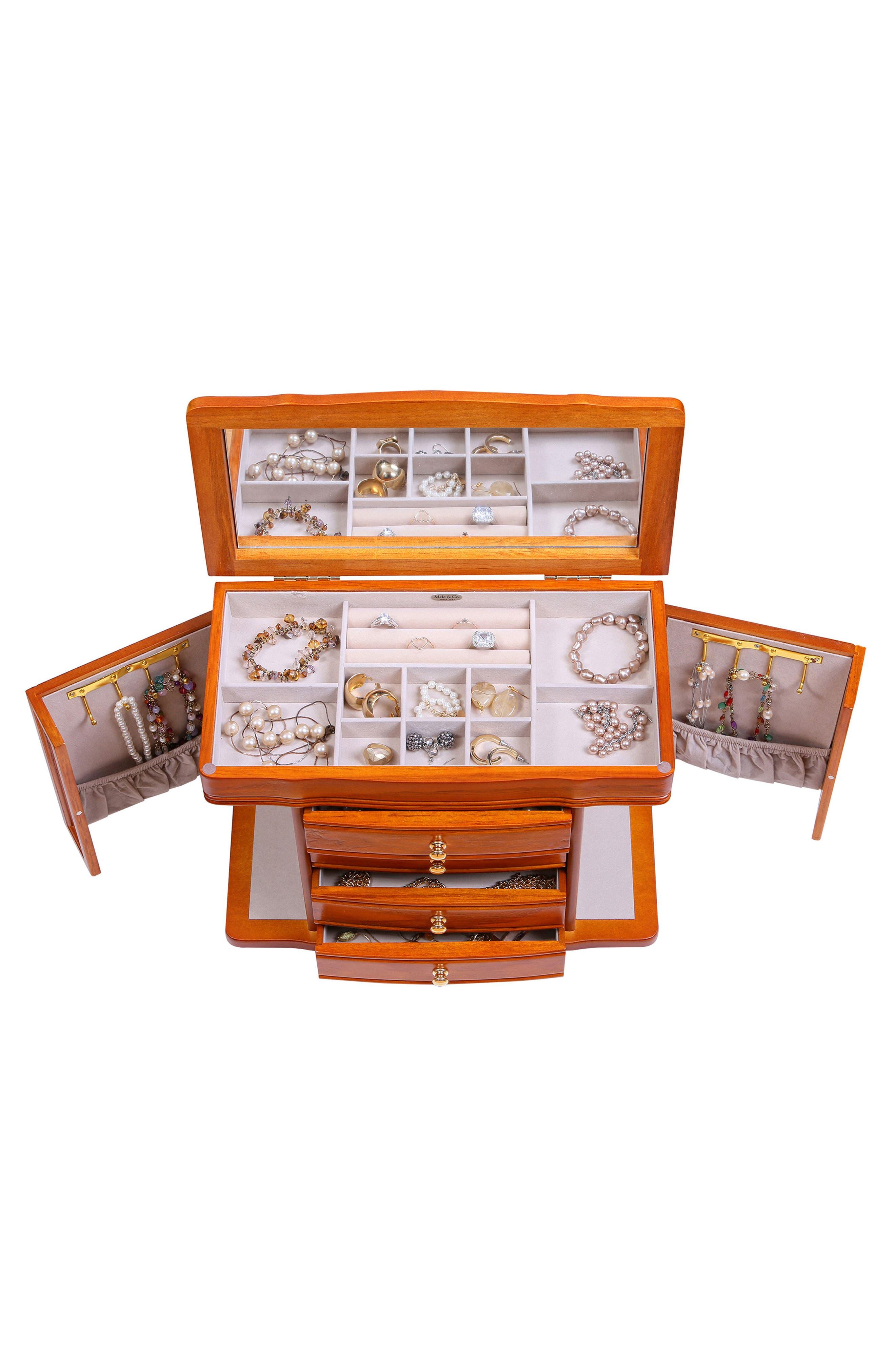 Josephine Jewelry Box,                             Alternate thumbnail 2, color,                             Brown