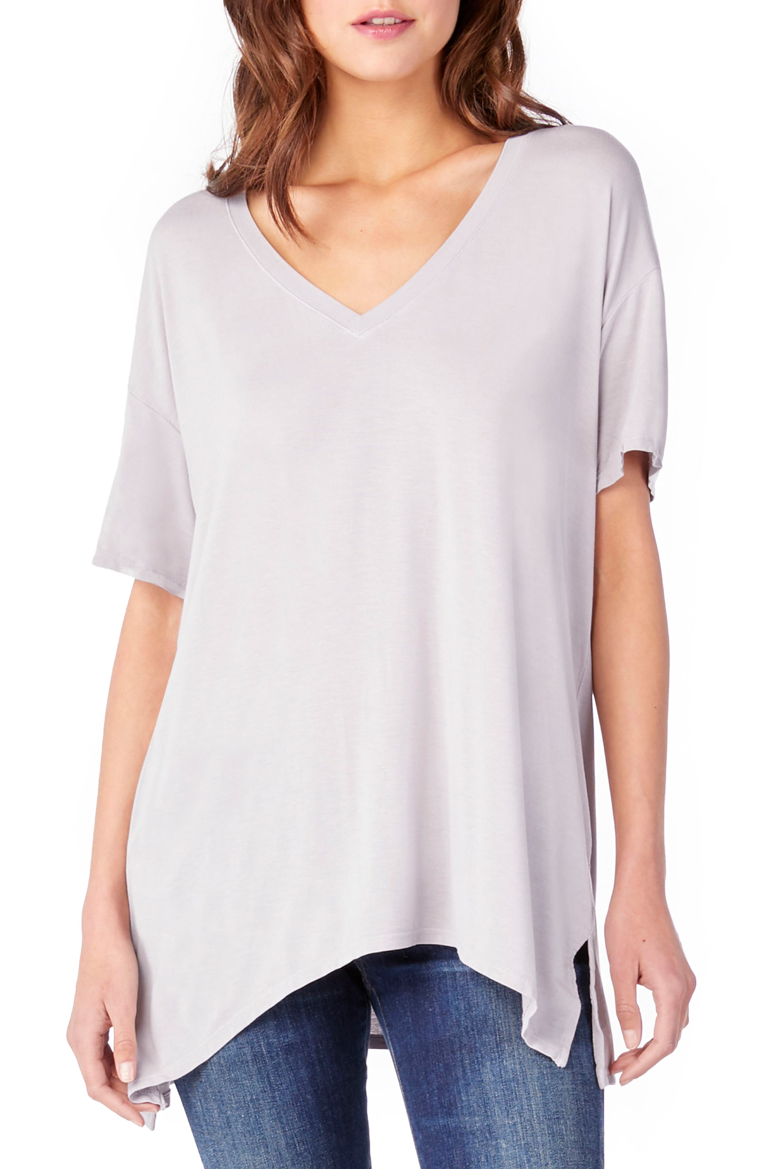 V-Neck Tee,                         Main,                         color, Oyster