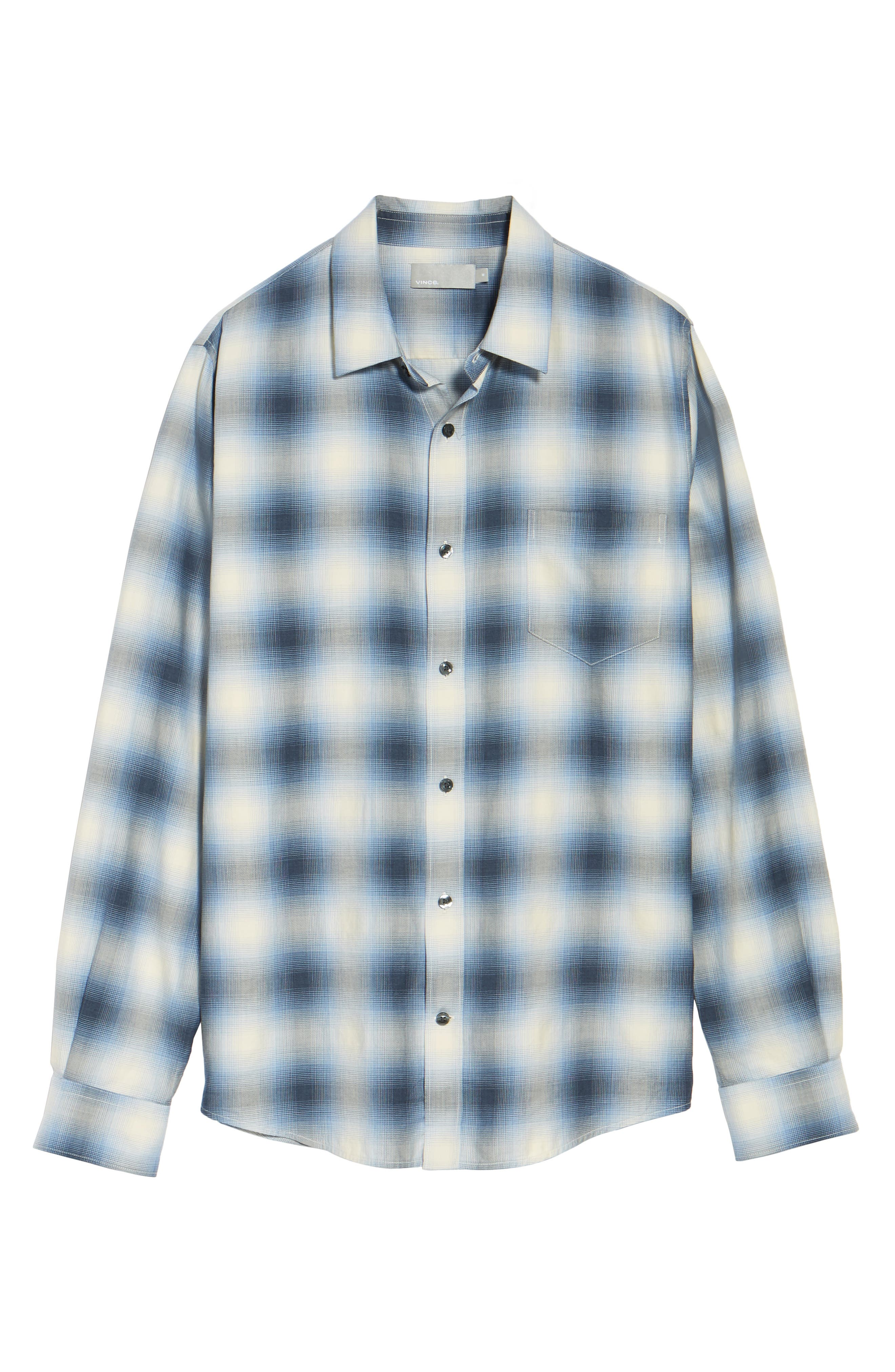 Regular Fit Check Sport Shirt,                             Alternate thumbnail 5, color,                             Light Blue