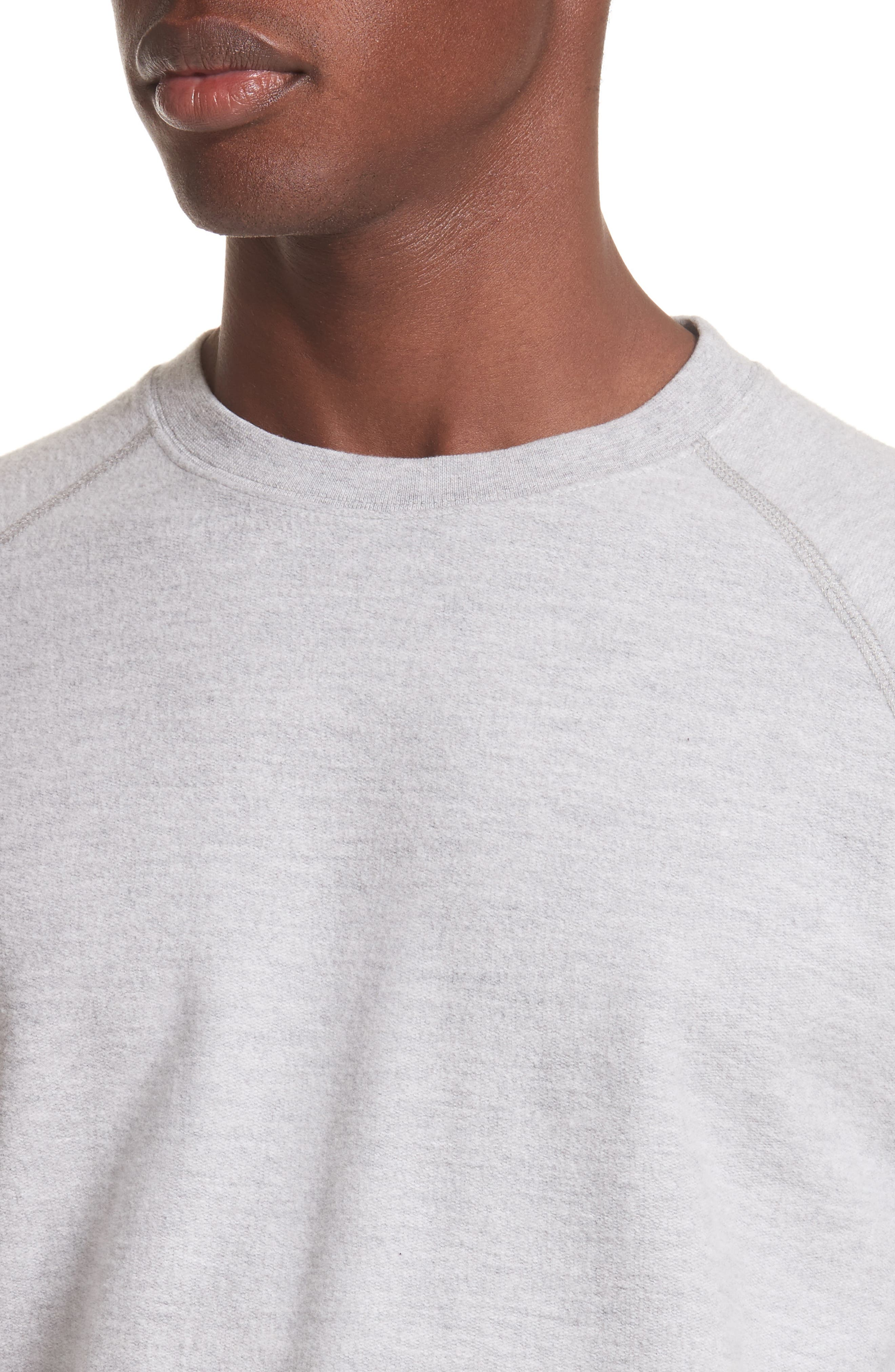 Victor Brushed Cotton T-Shirt,                             Alternate thumbnail 4, color,                             Light Grey