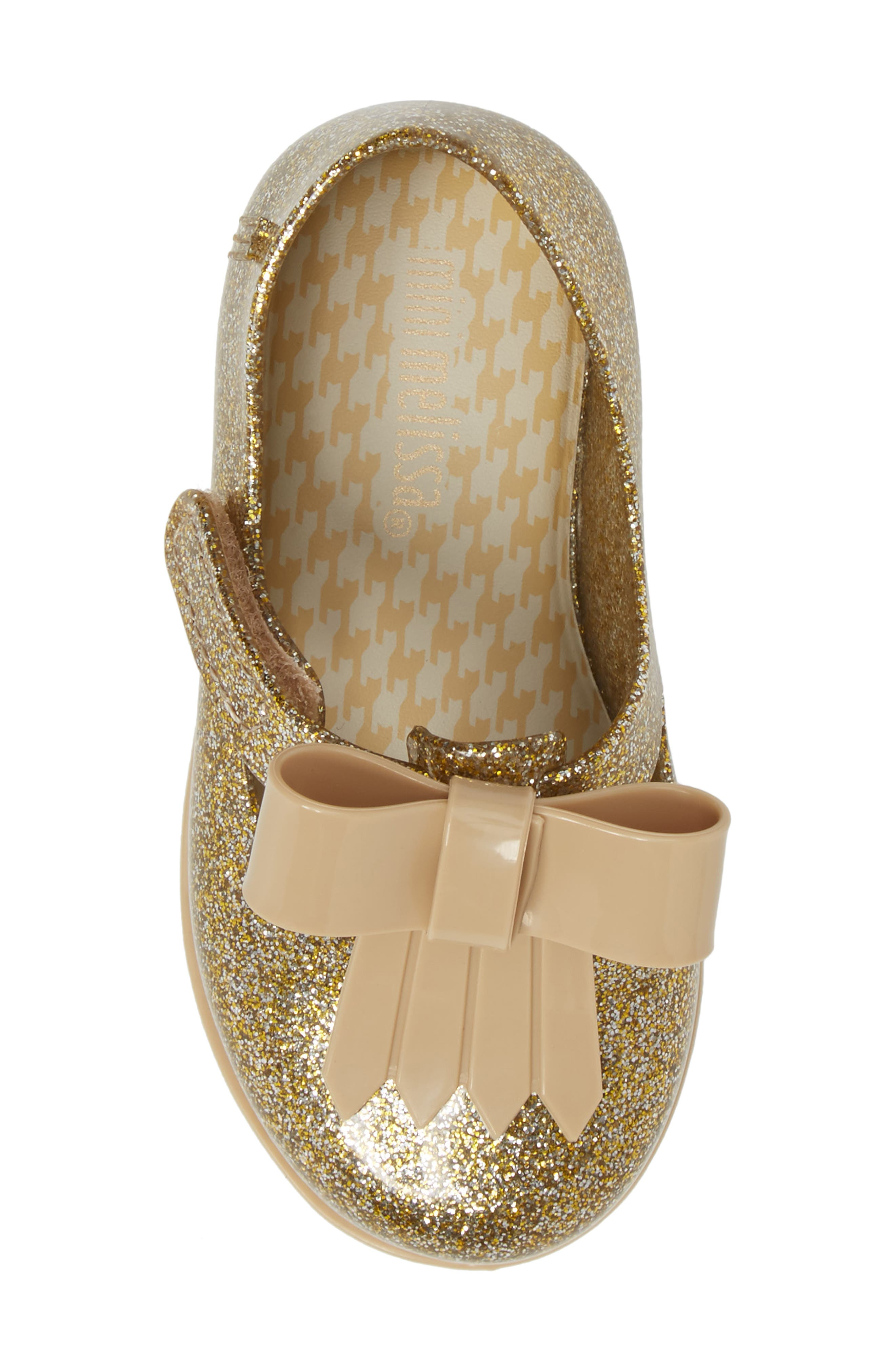 Classic Baby II Mary Jane,                             Alternate thumbnail 5, color,                             Gold Glass Glitter