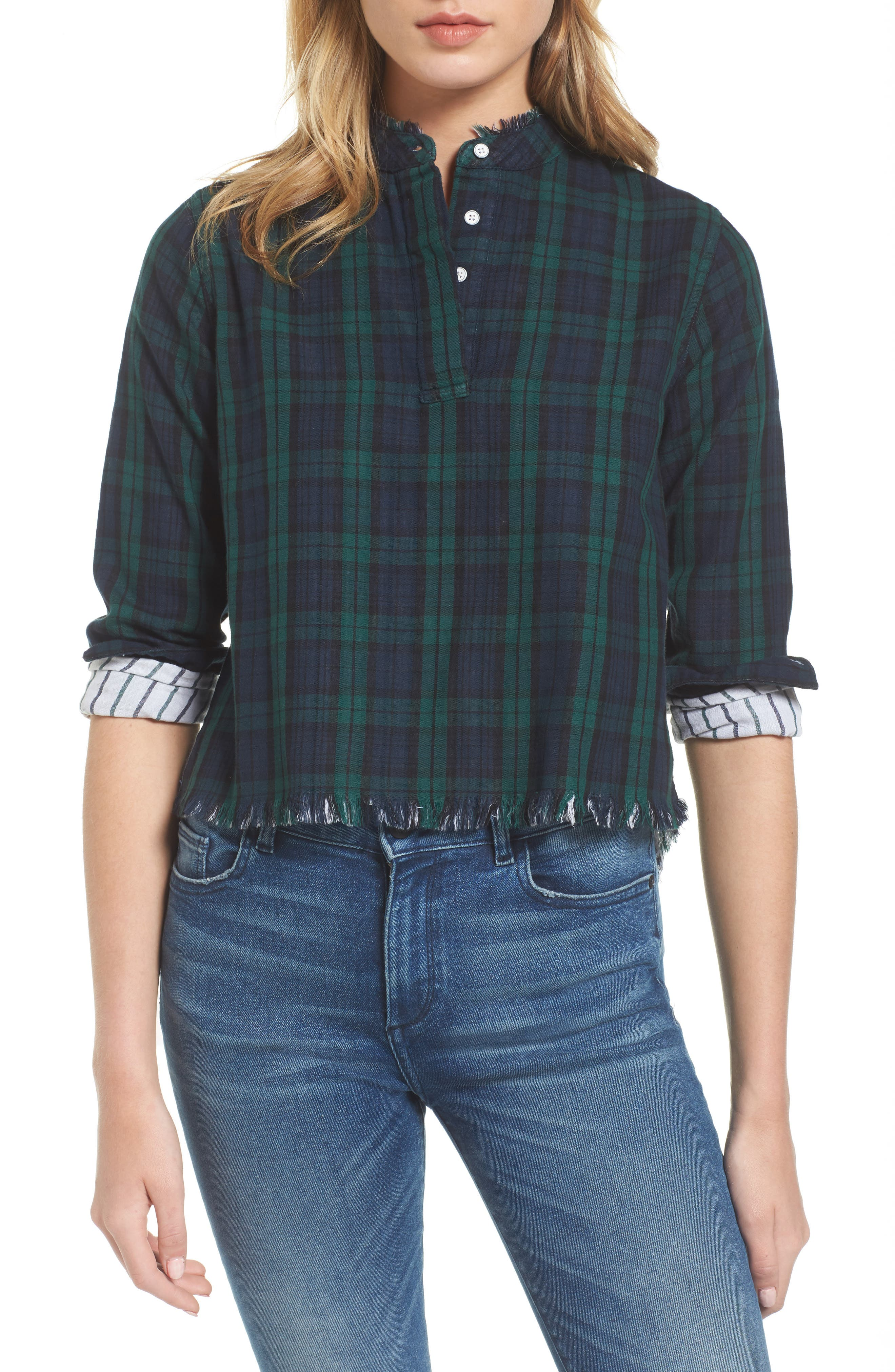 DL1961 W 3rd & Sullivan Plaid Top