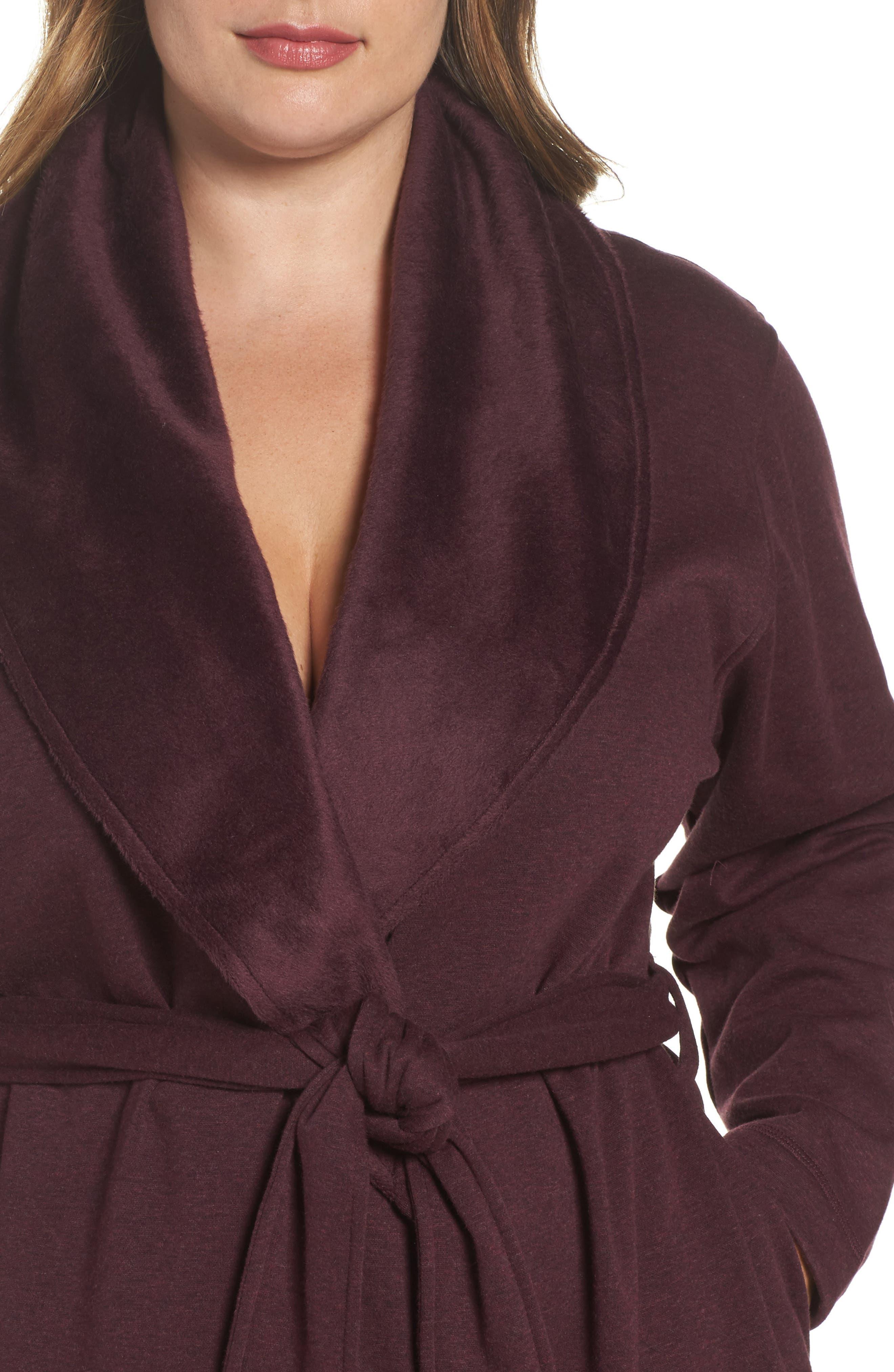 Alternate Image 5  - UGG® 'Blanche' Plush Shawl Collar Robe (Plus Size)