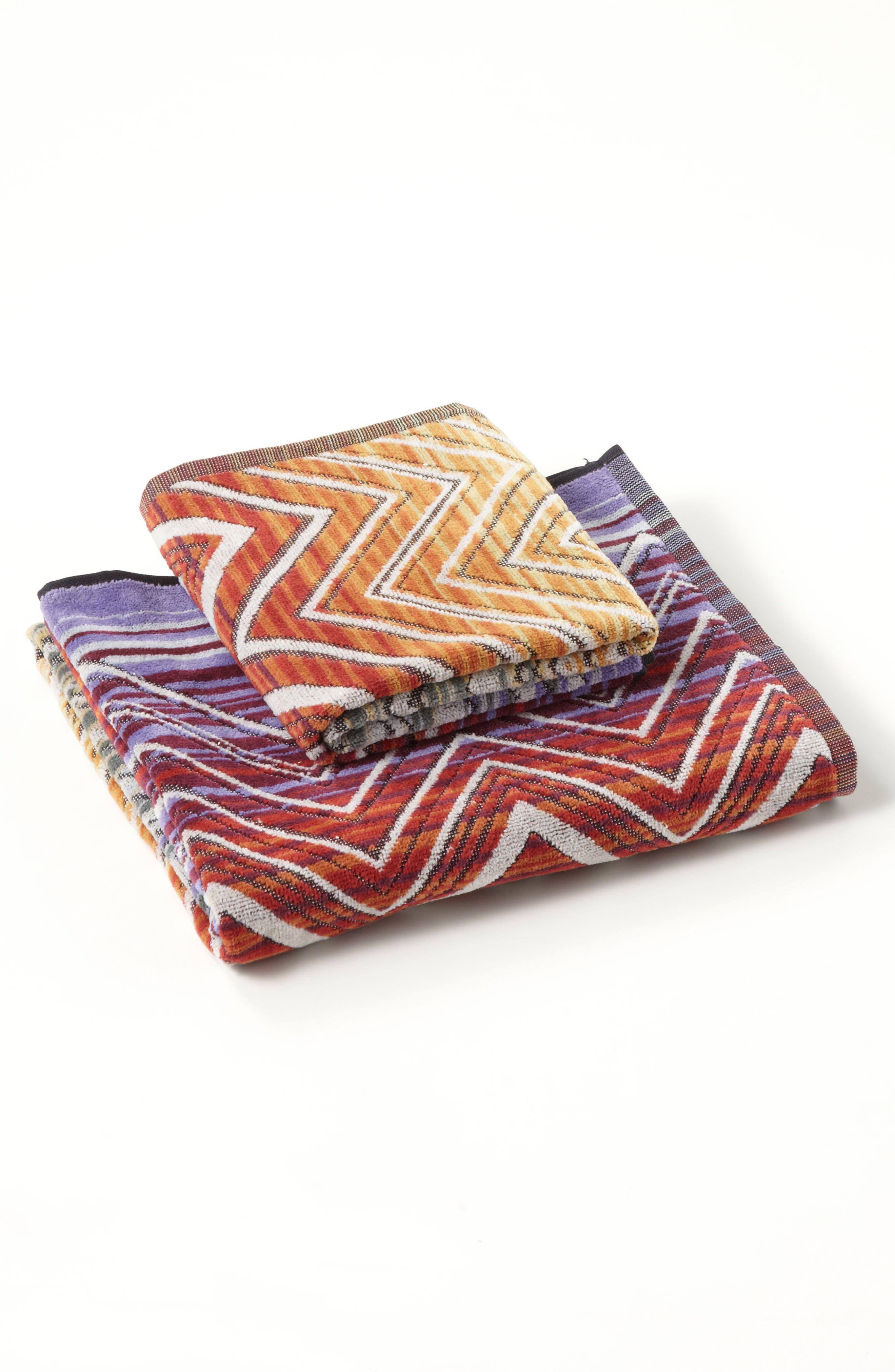 Tolomeo Hand Towel,                             Alternate thumbnail 2, color,                             Multi Red