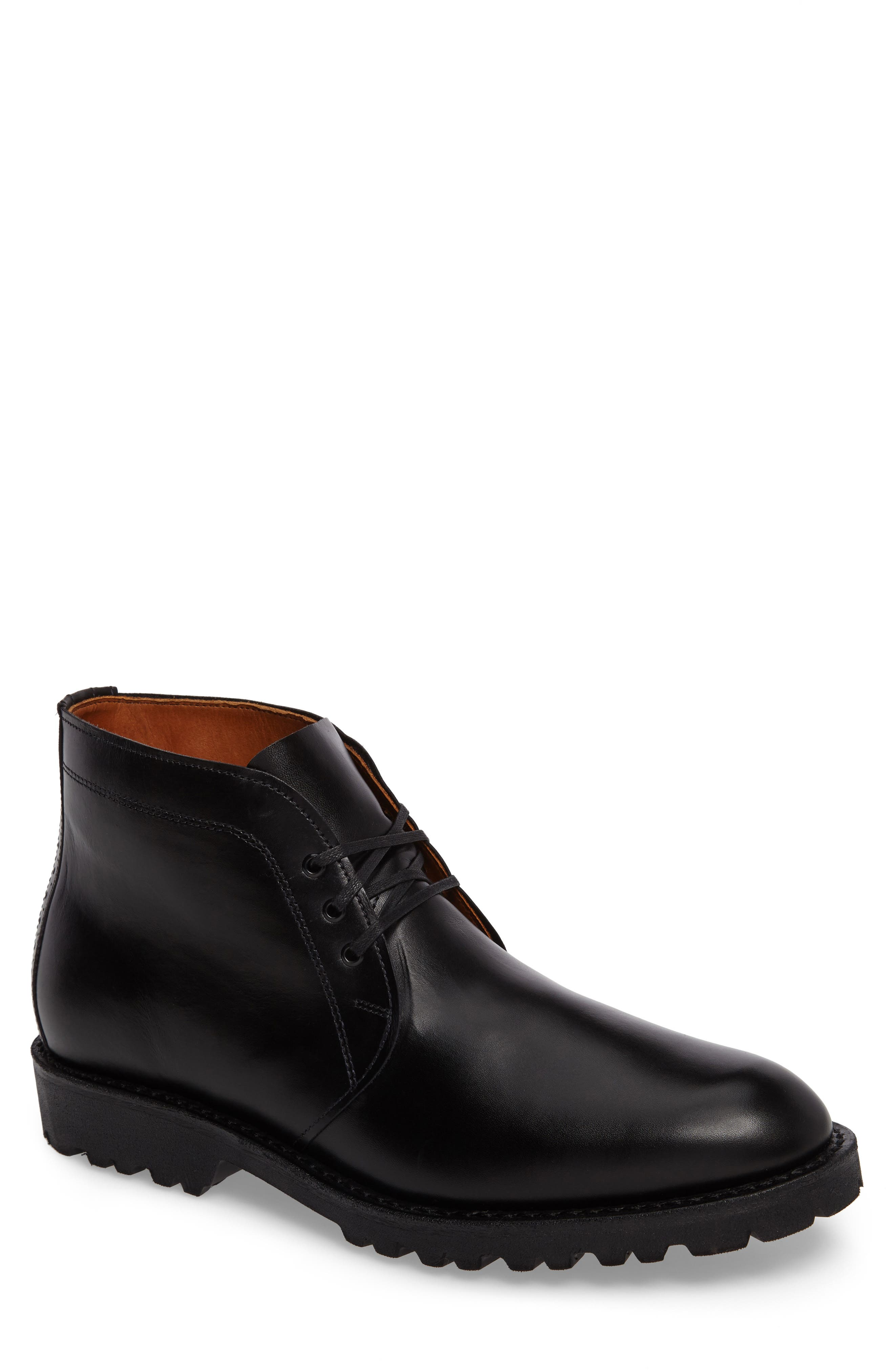 Tate Chukka Boot,                         Main,                         color, Black Leather