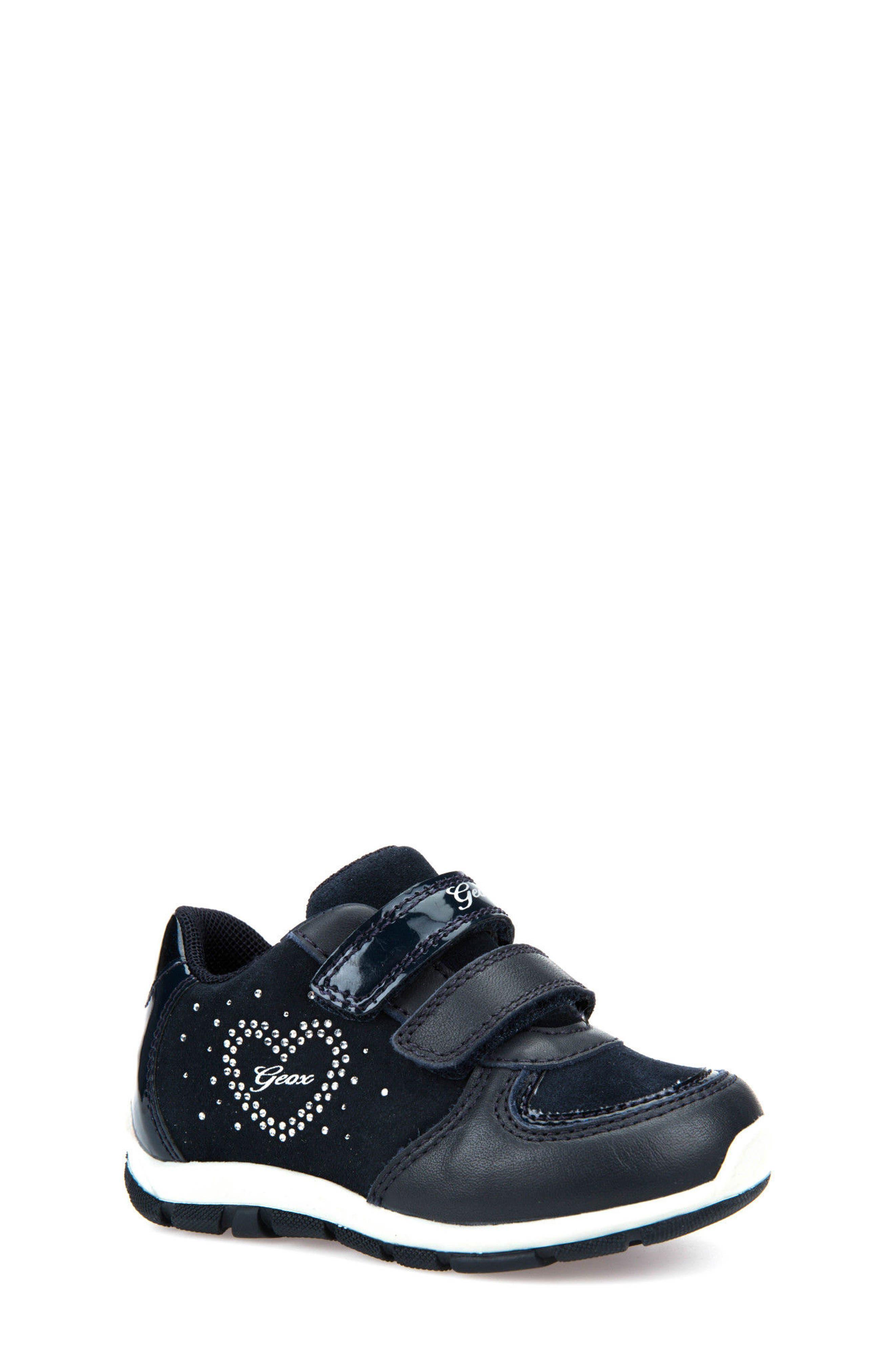 Alternate Image 1 Selected - Geox Shaax Love Sneaker (Walker & Toddler)