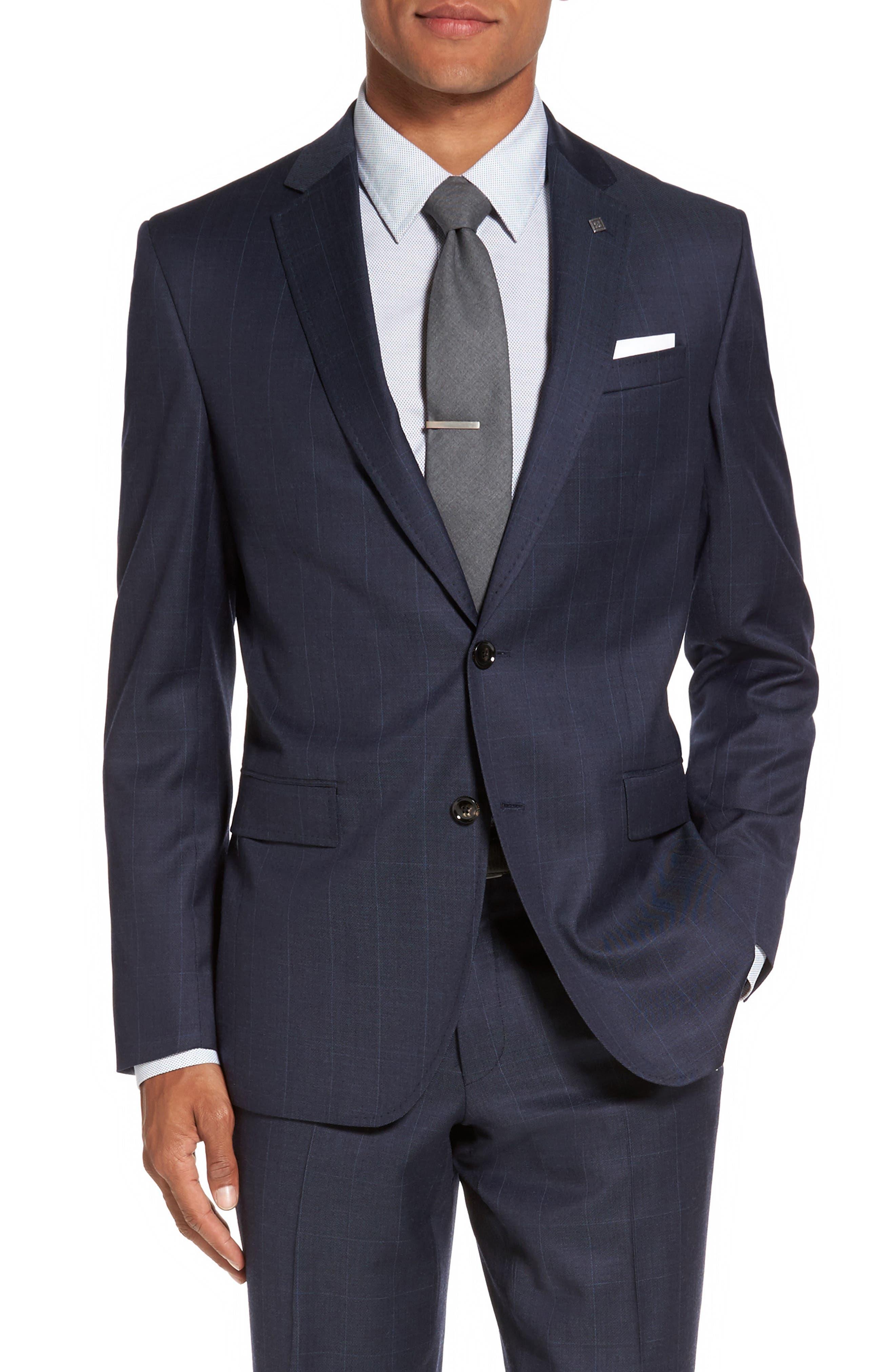 Alternate Image 5  - Ted Baker London Jay Trim Fit Windowpane Wool Suit