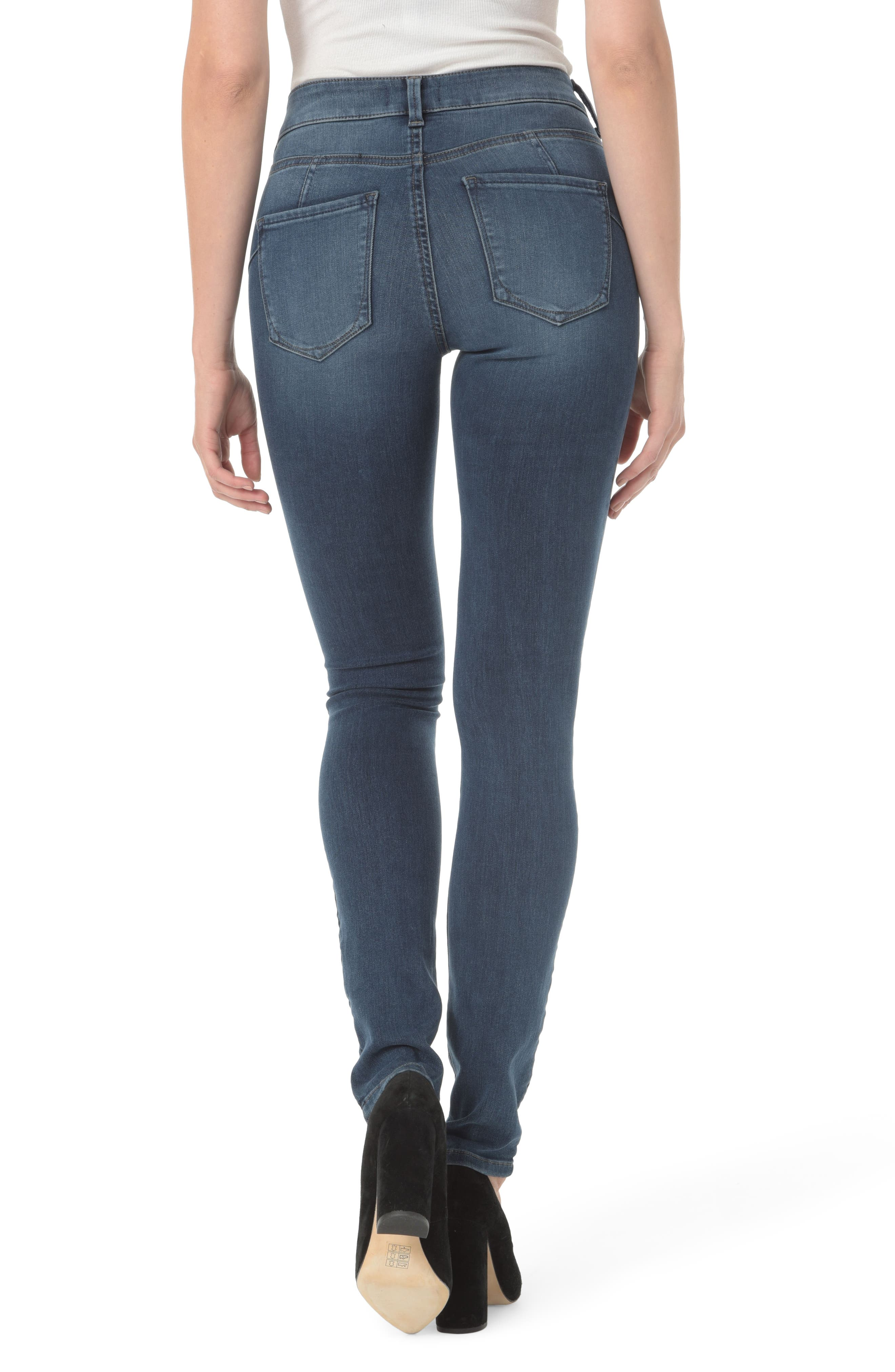 Alina Uplift Stretch Skinny Jeans,                             Alternate thumbnail 2, color,                             Traveler