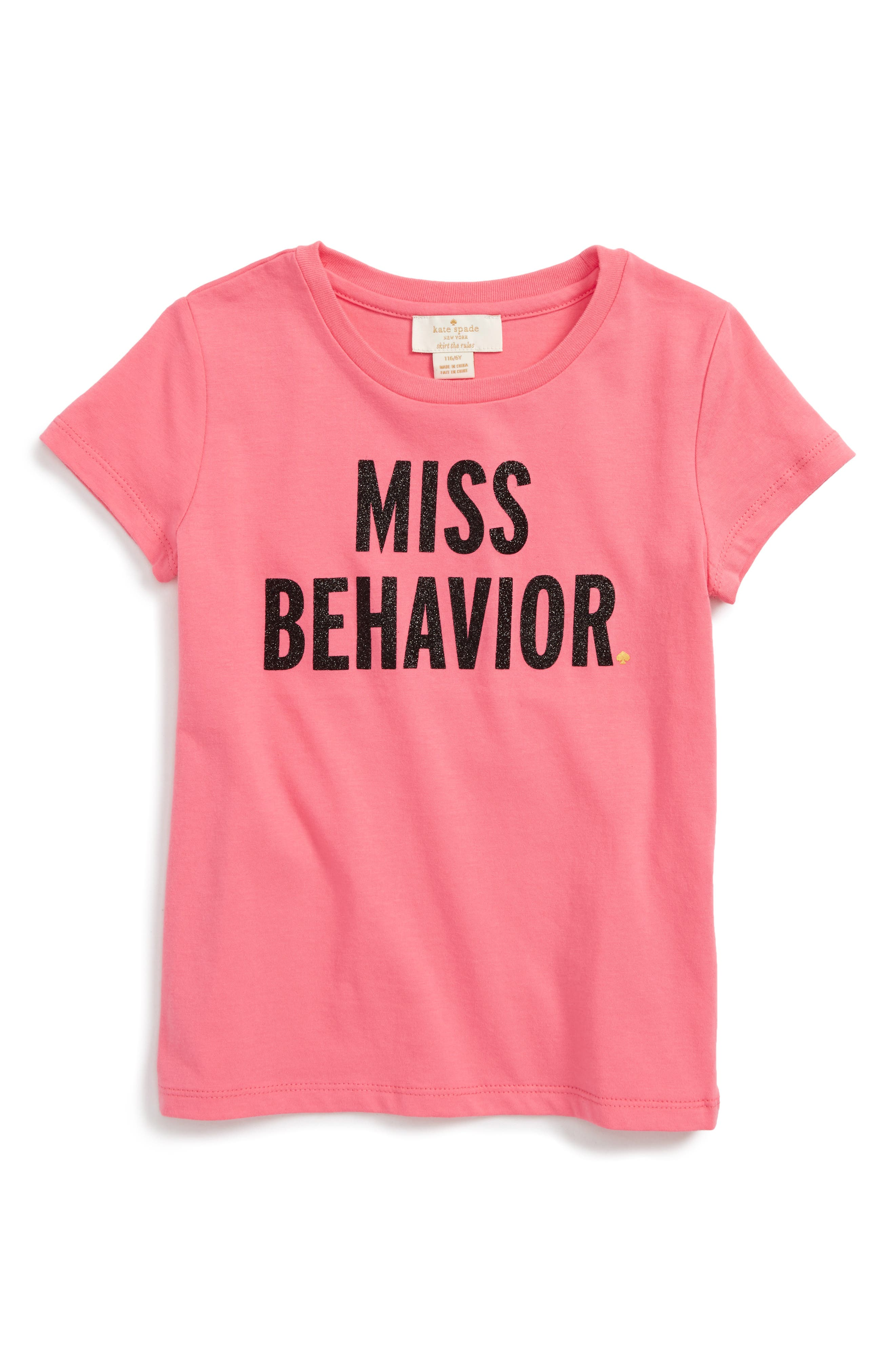 kate spade new york miss behavior graphic tee (Toddler Girls & Little Girls)