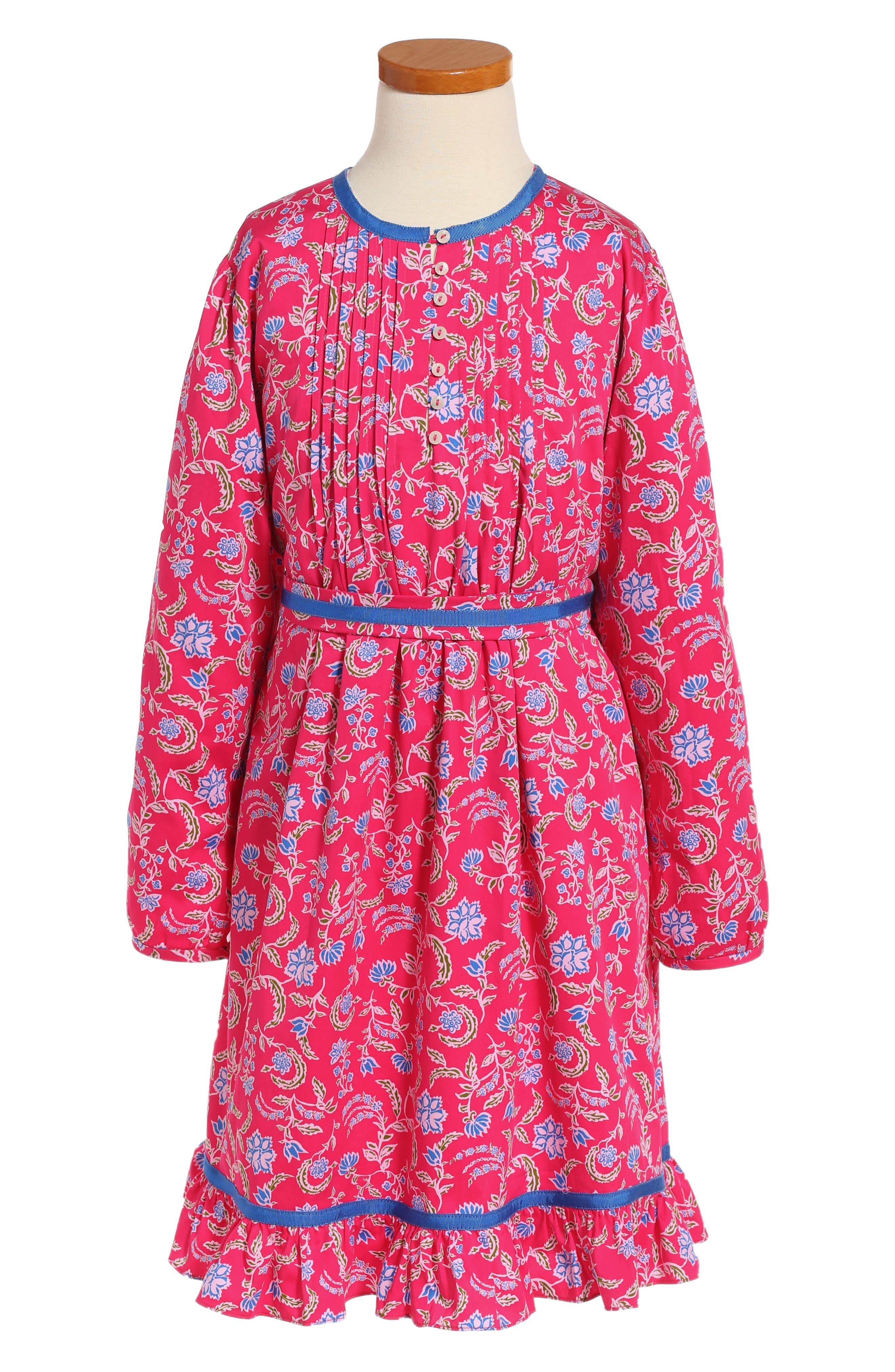Lotus Flower Dress,                         Main,                         color, Hot Pink Multi