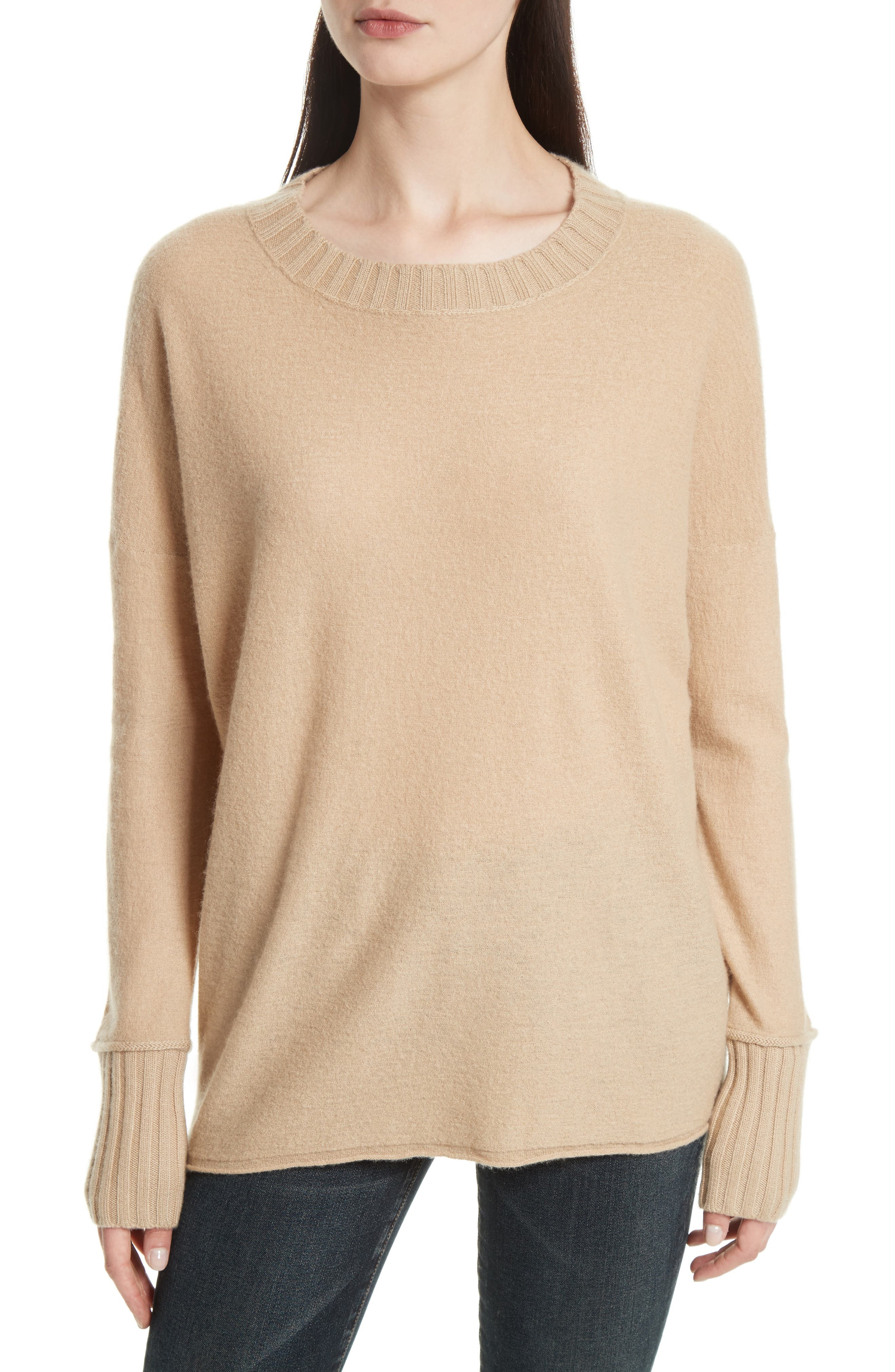 Cashmere Pullover,                         Main,                         color, Camel