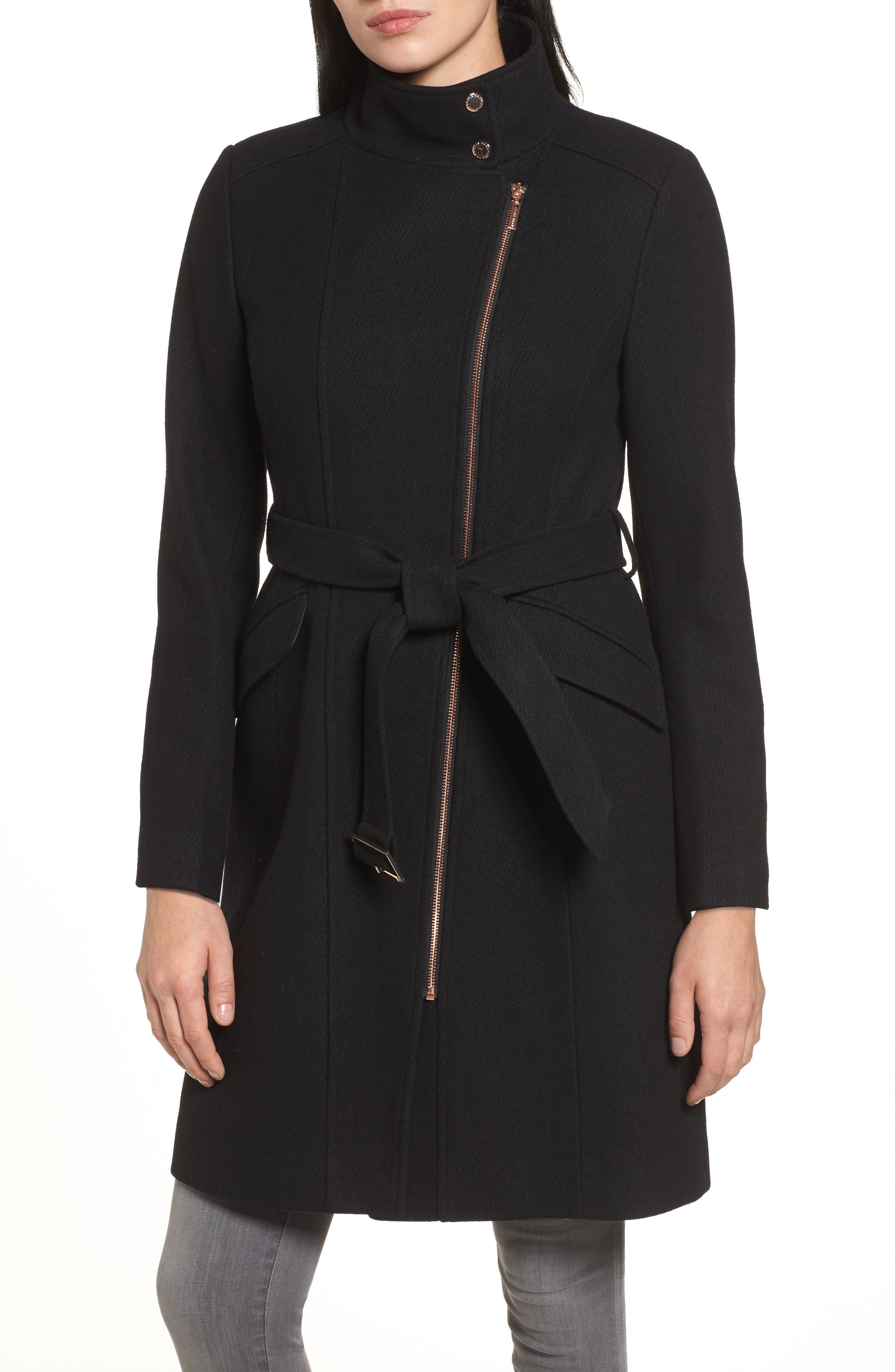 Coat,                             Alternate thumbnail 4, color,                             Black