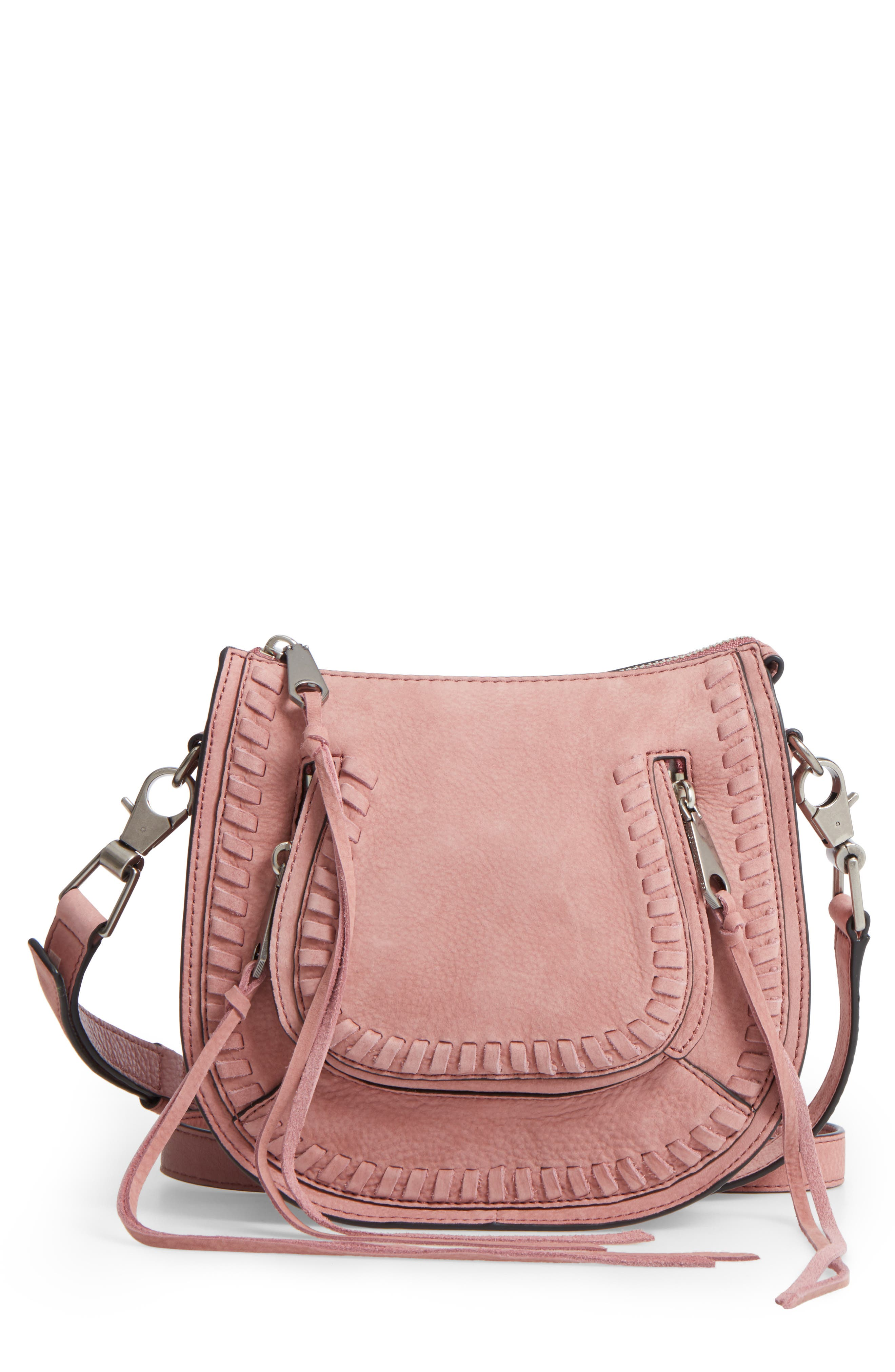 REBECCA MINKOFF Mini Vanity Leather Saddle Bag