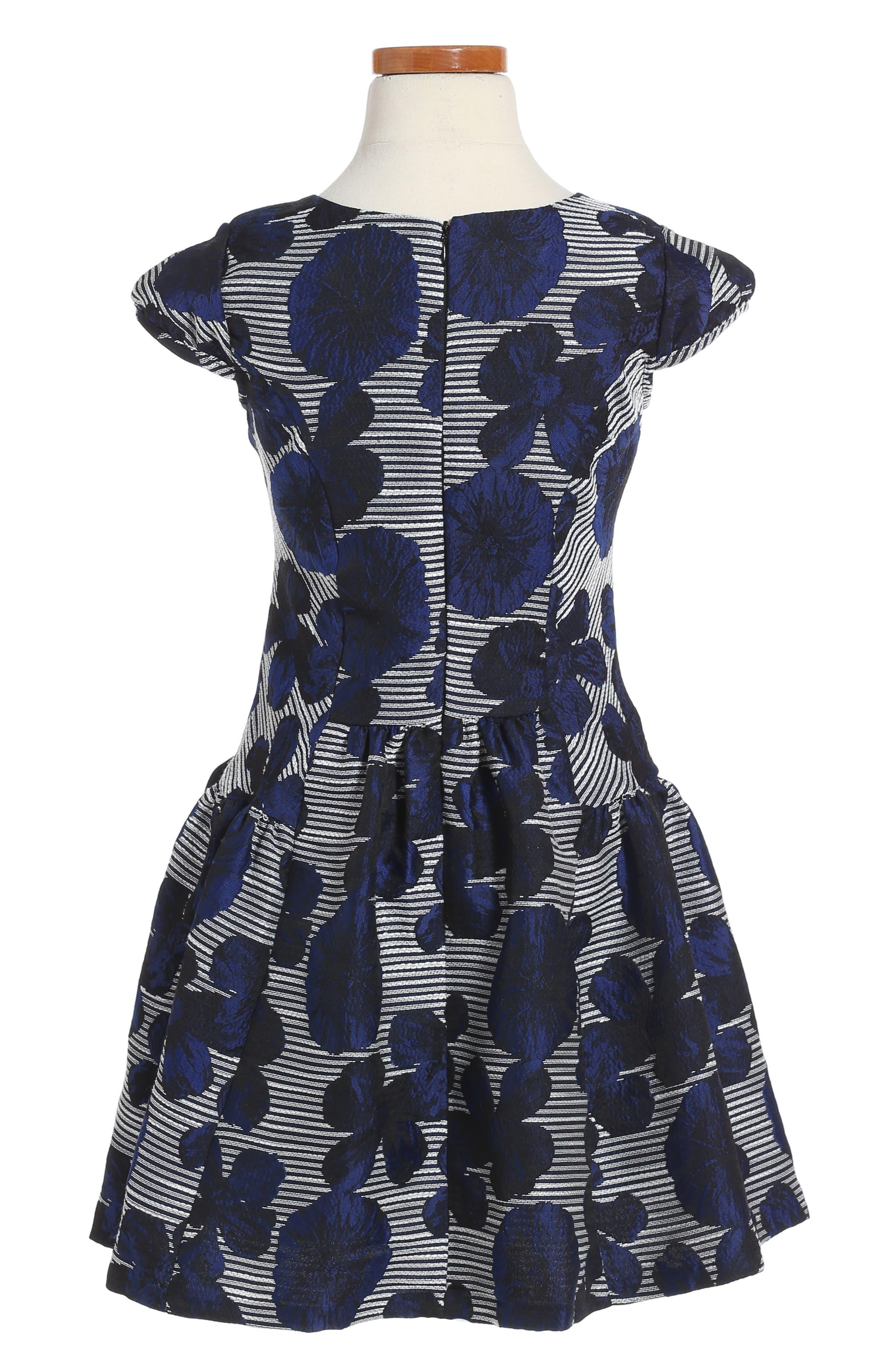 Alternate Image 2  - Iris & Ivy Floral Jacquard Dress (Toddler Girls, Little Girls & Big Girls)