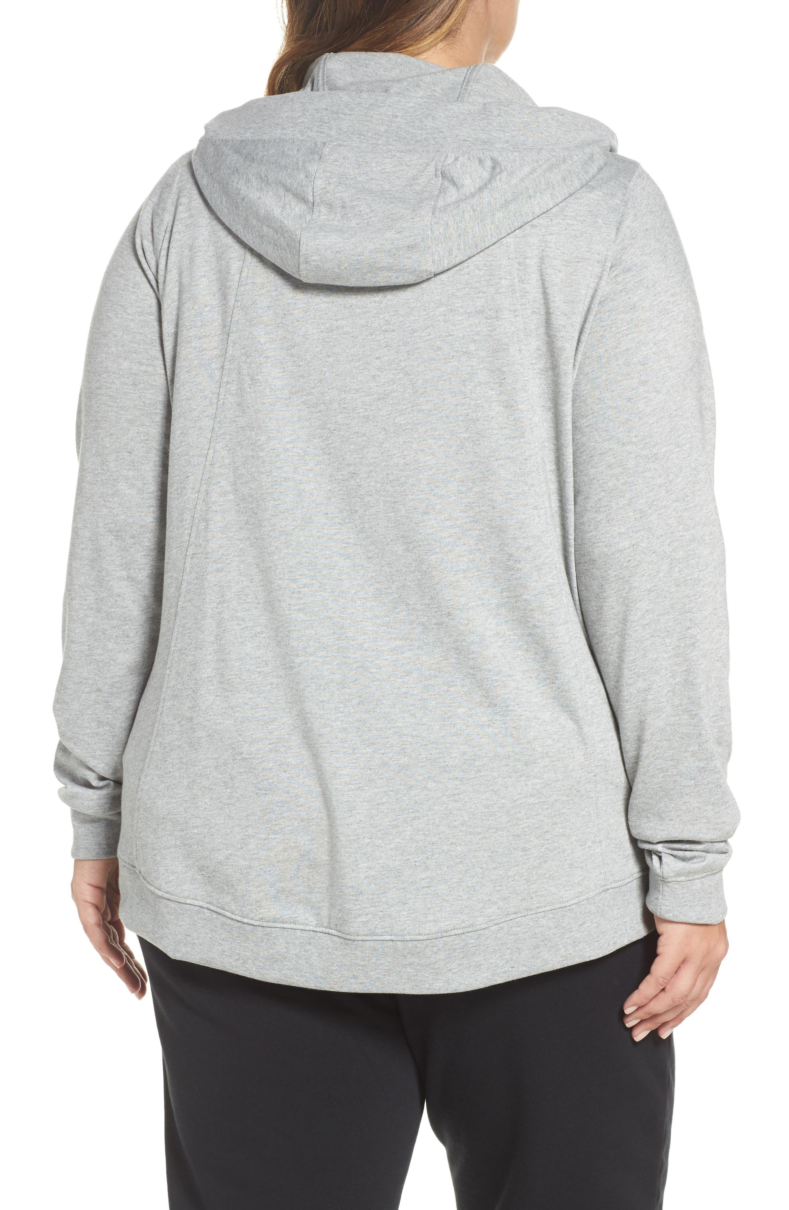 Alternate Image 2  - Nike Sportswear Gym Classic Hoodie (Plus Size)