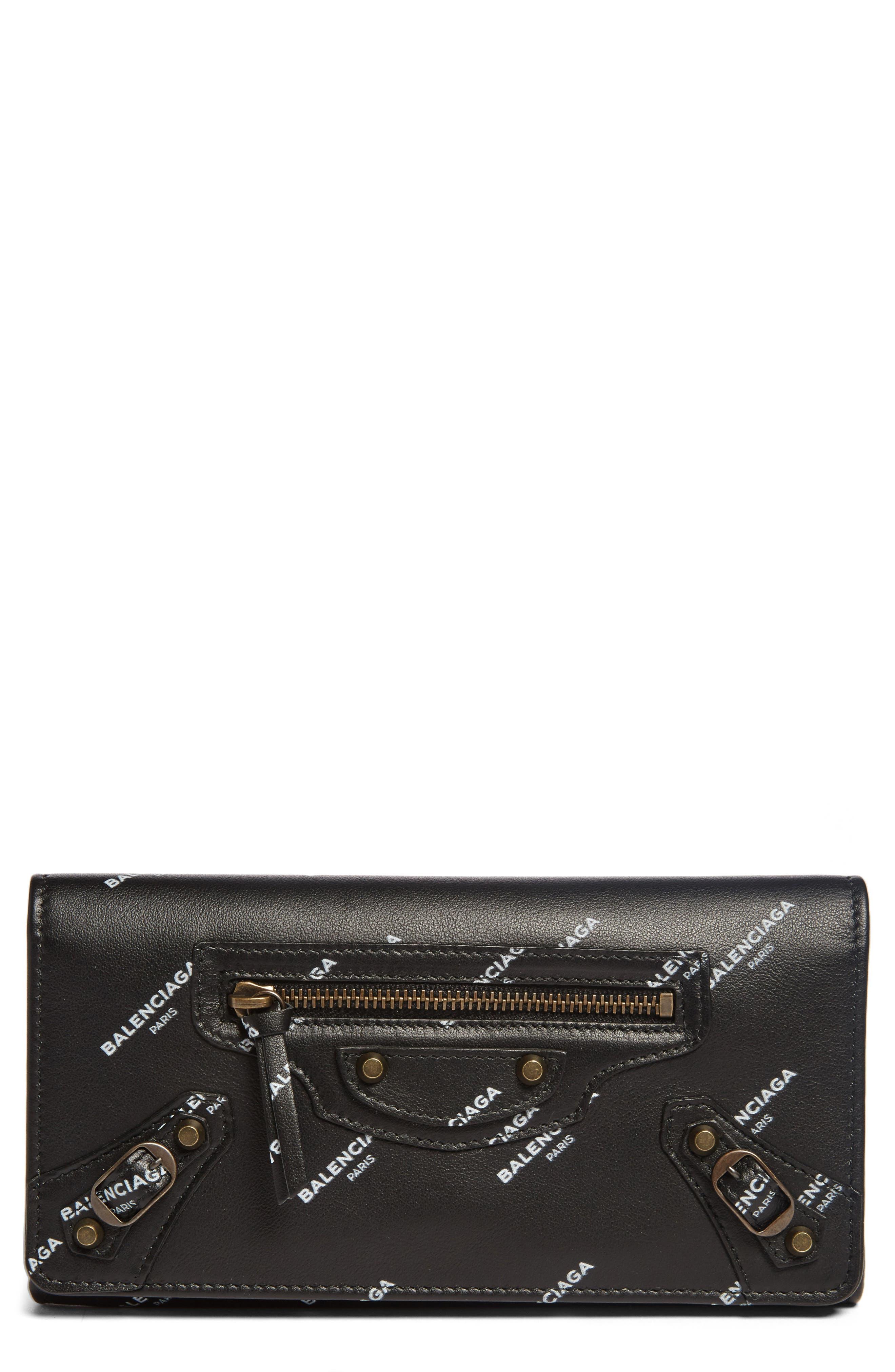 Balenciaga Classic Money Logo Leather Wallet