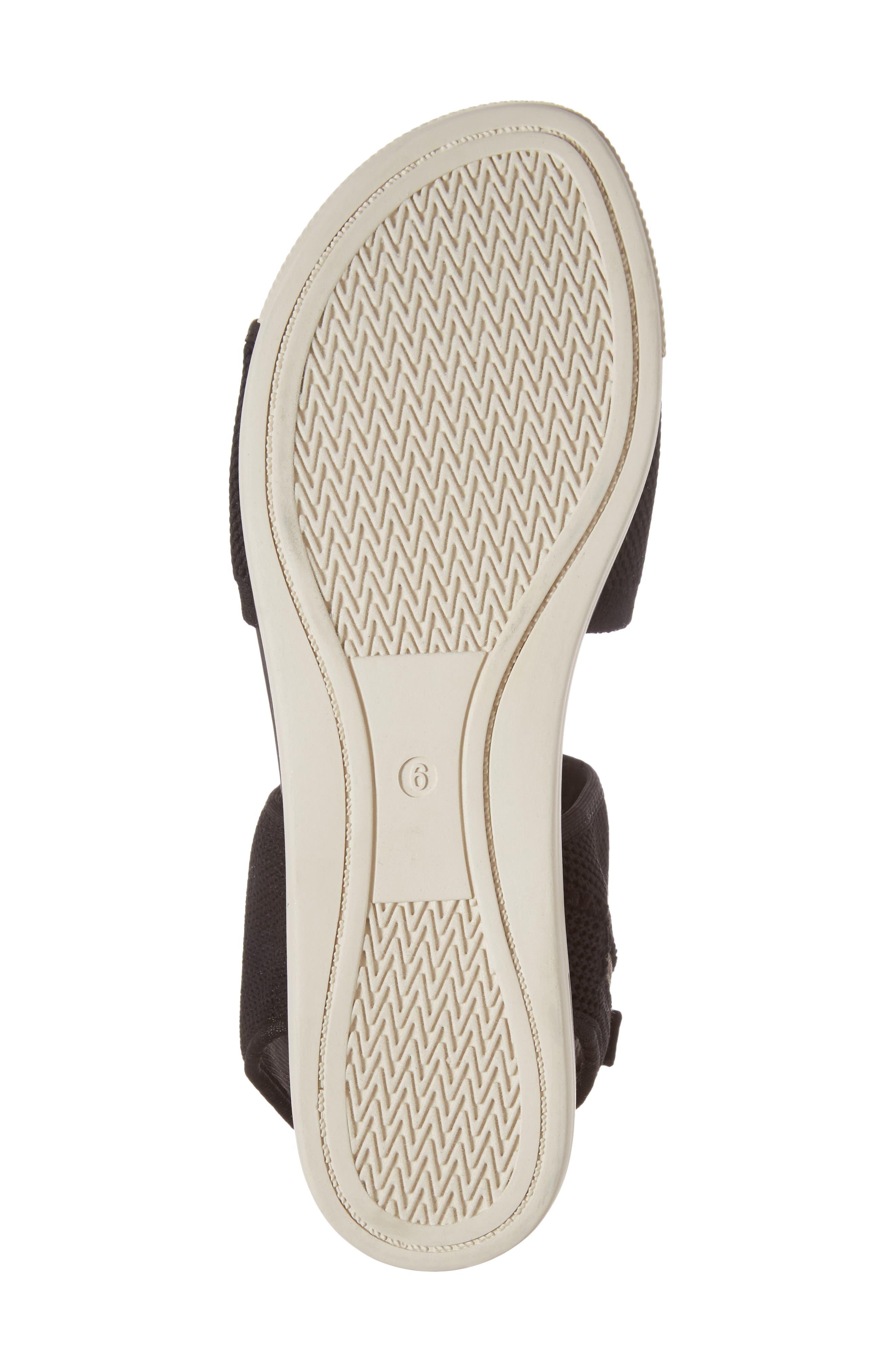 Knit Sport Sandal,                             Alternate thumbnail 6, color,                             Black Fabric