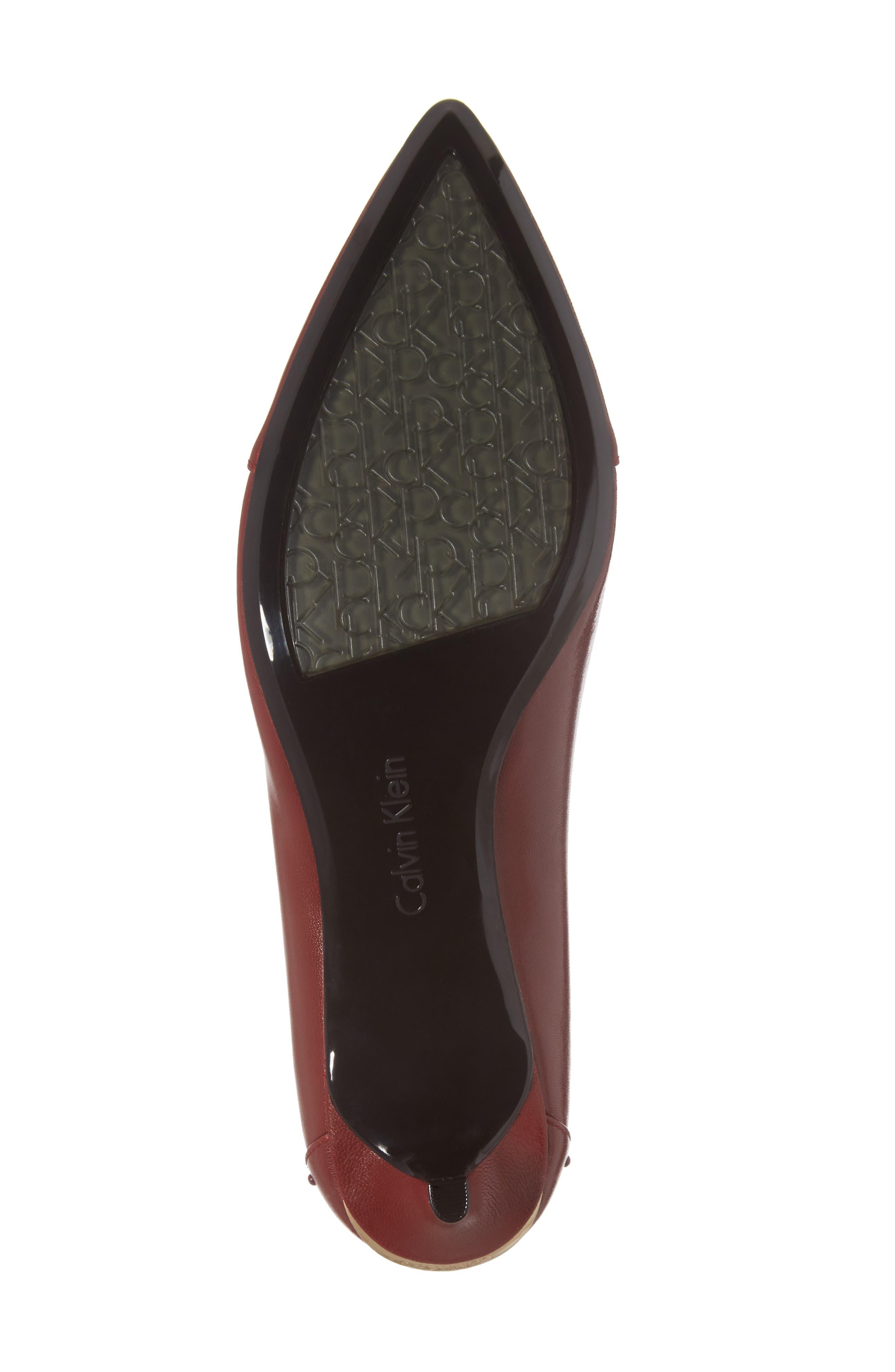 Griselda Studded Cap Toe Pump,                             Alternate thumbnail 6, color,                             Cherry Red
