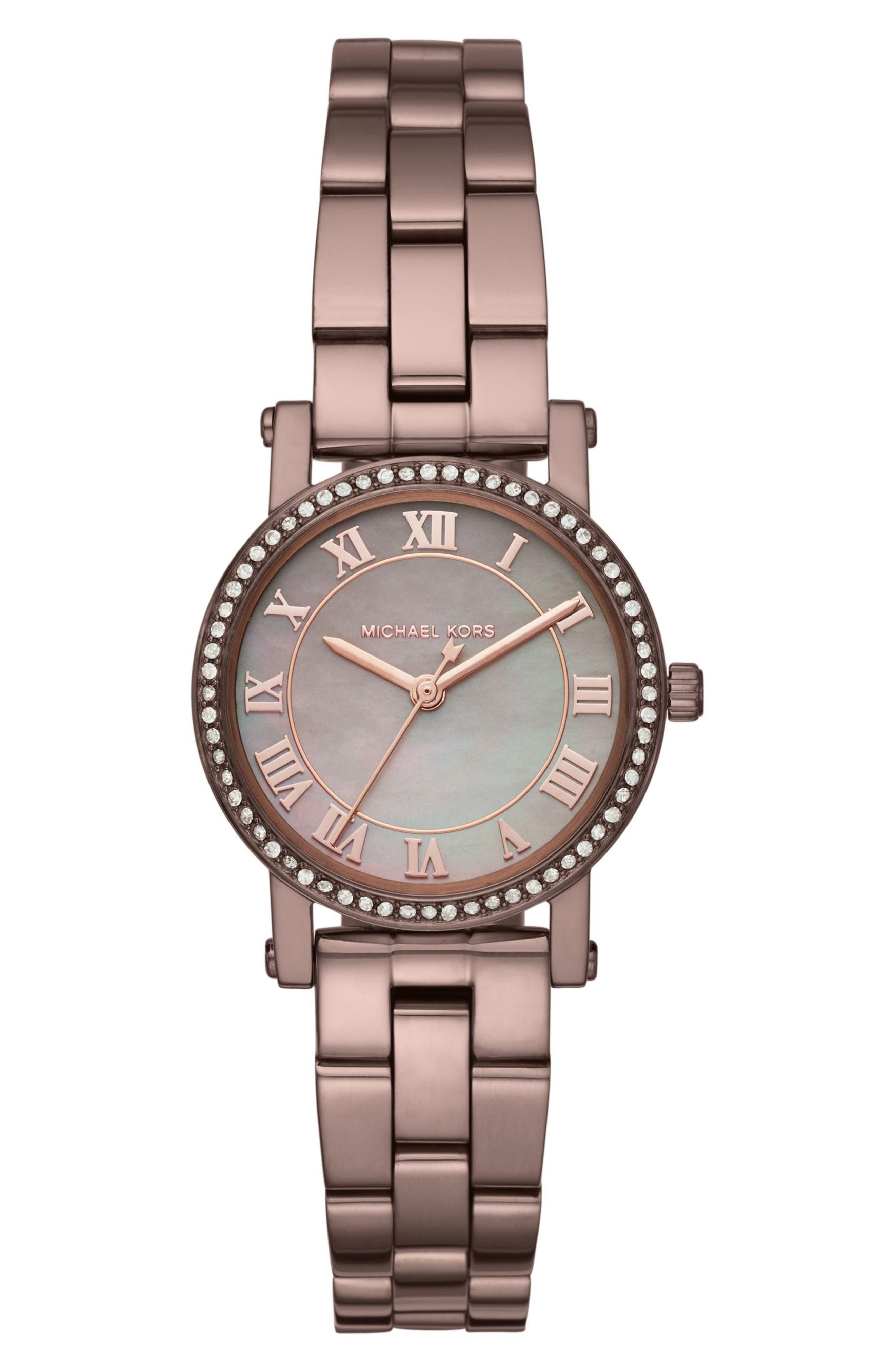 MICHAEL Michael Kors Petite Norie Pavé Bracelet Watch, 28mm