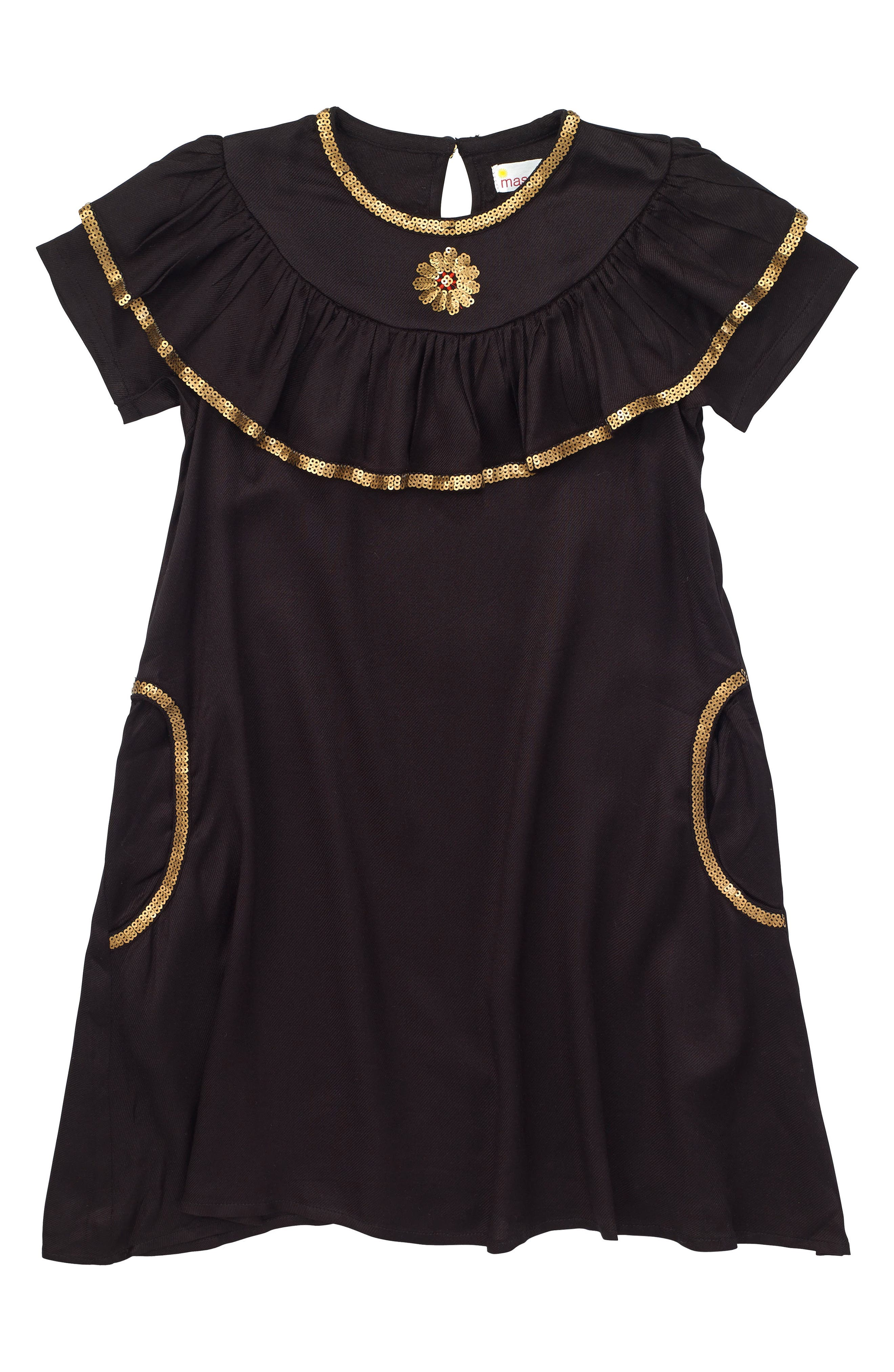 Enchanted Dress,                         Main,                         color, Black