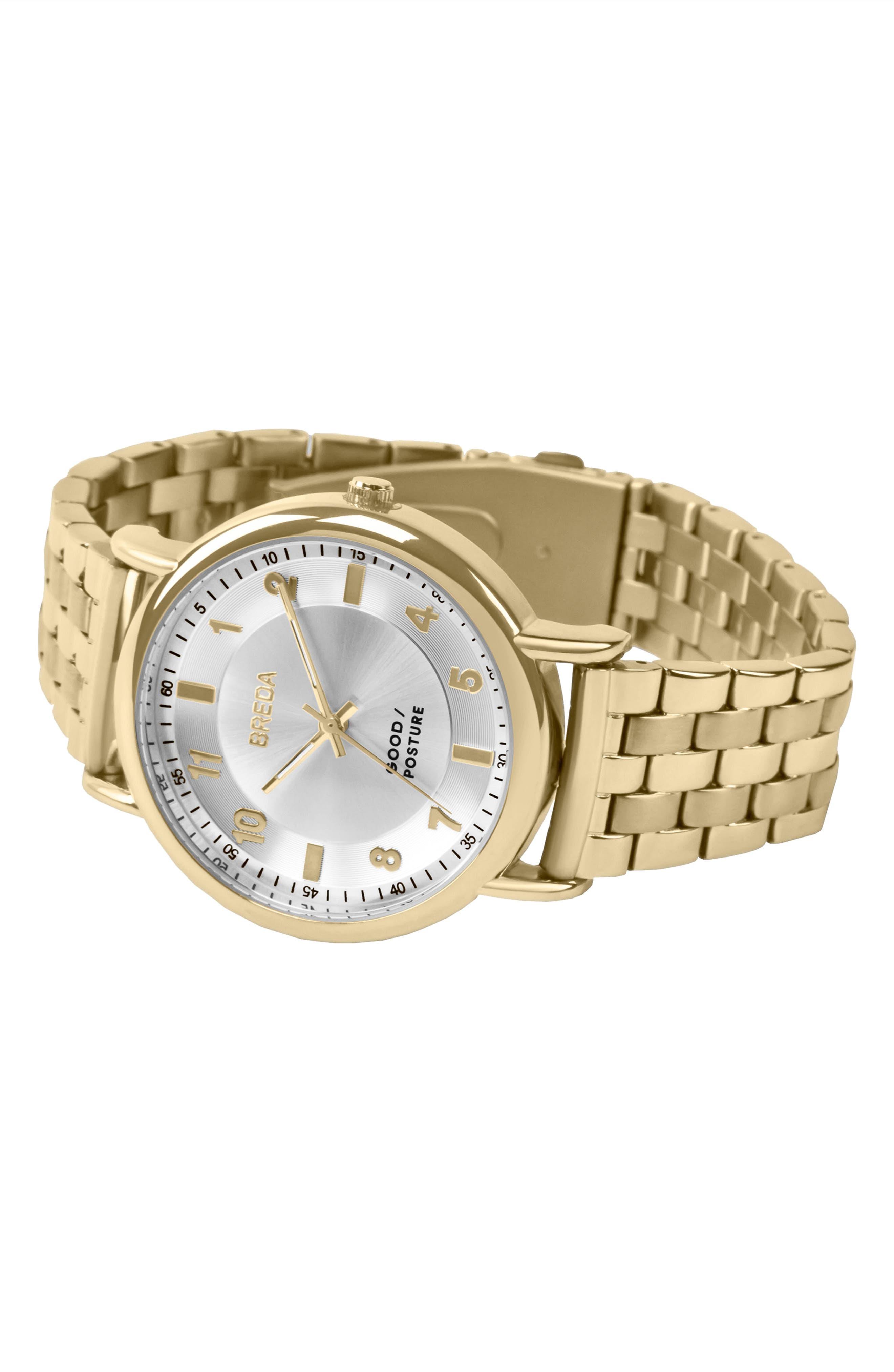 Alternate Image 2  - BREDA Blossom Round Bracelet Watch, 41mm