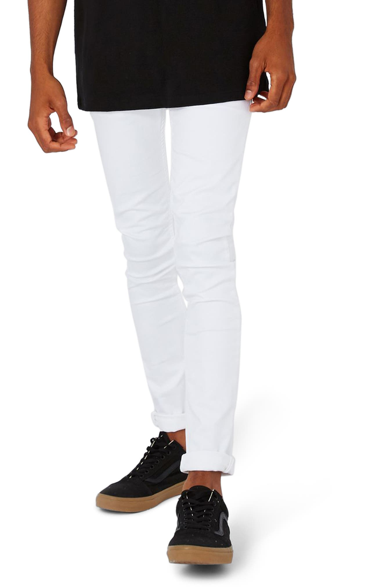 Topman White Spray-On Skinny Jeans