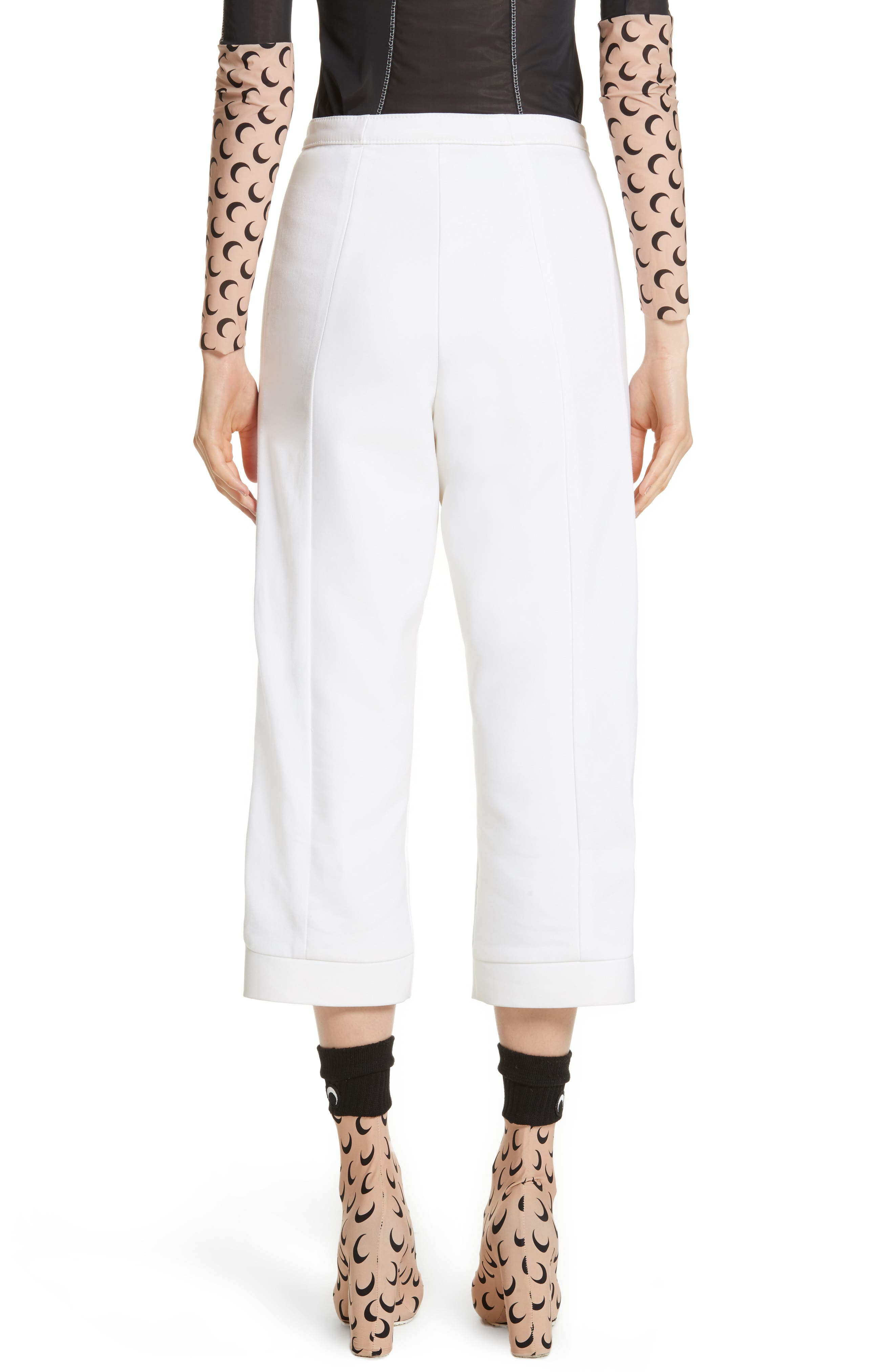 Crop Trousers,                             Alternate thumbnail 3, color,                             White