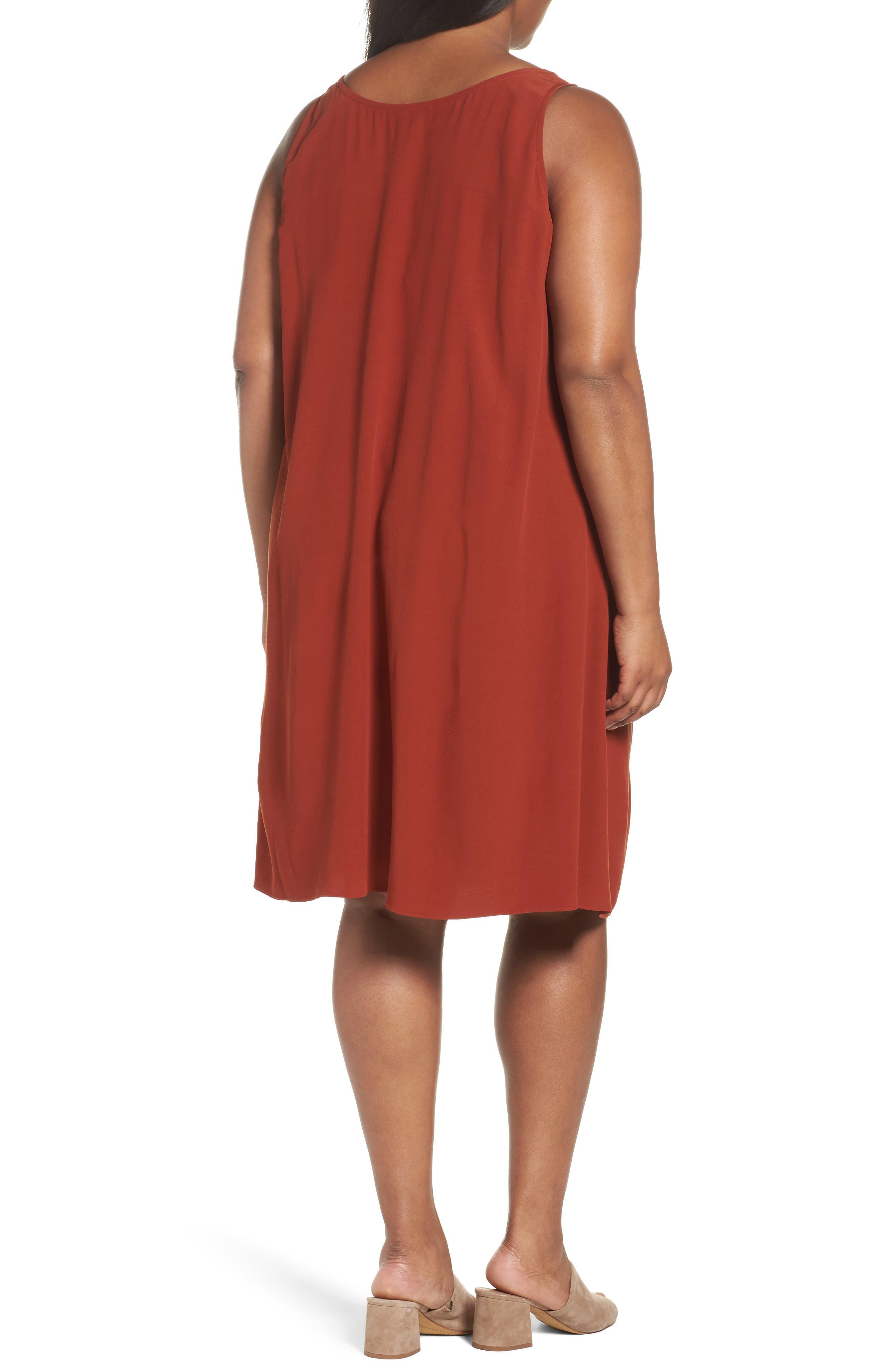 Tencel<sup>®</sup> Blend A-Line Shift Dress,                             Alternate thumbnail 2, color,                             Parka