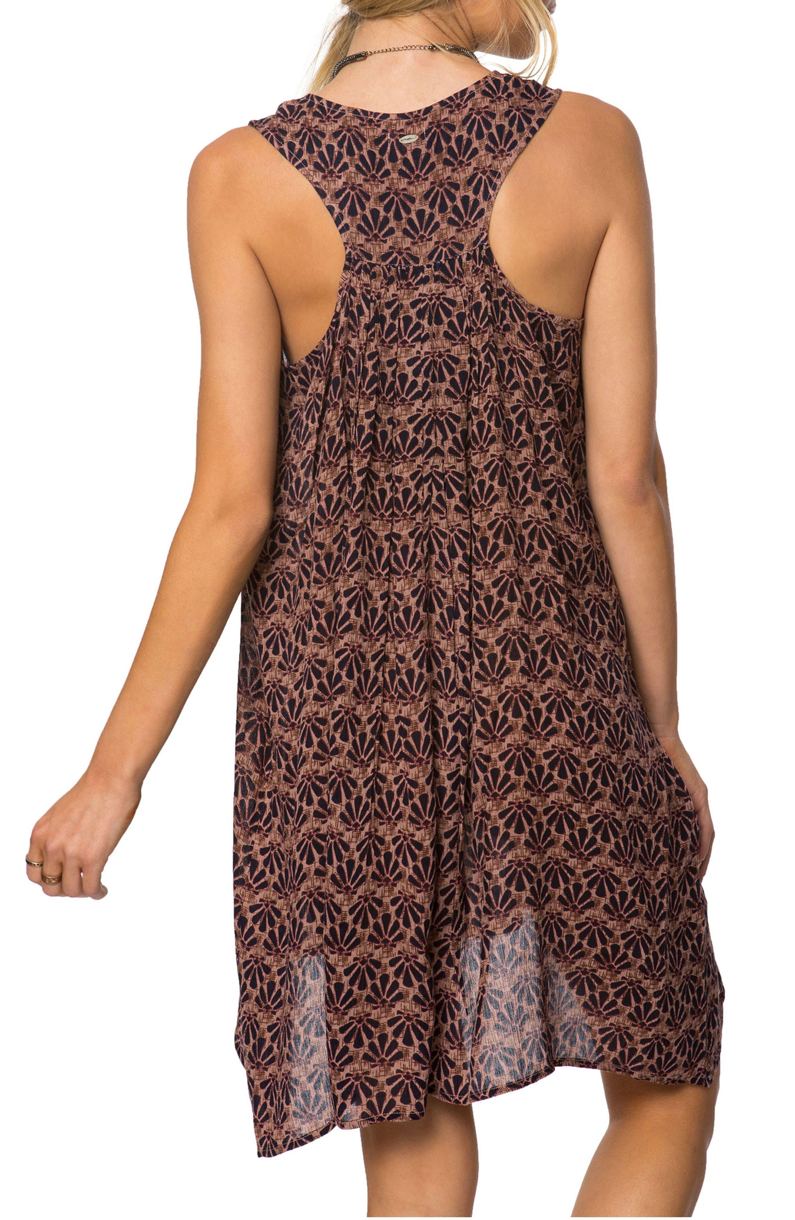 Alaska Print Dress,                             Alternate thumbnail 2, color,                             Brown