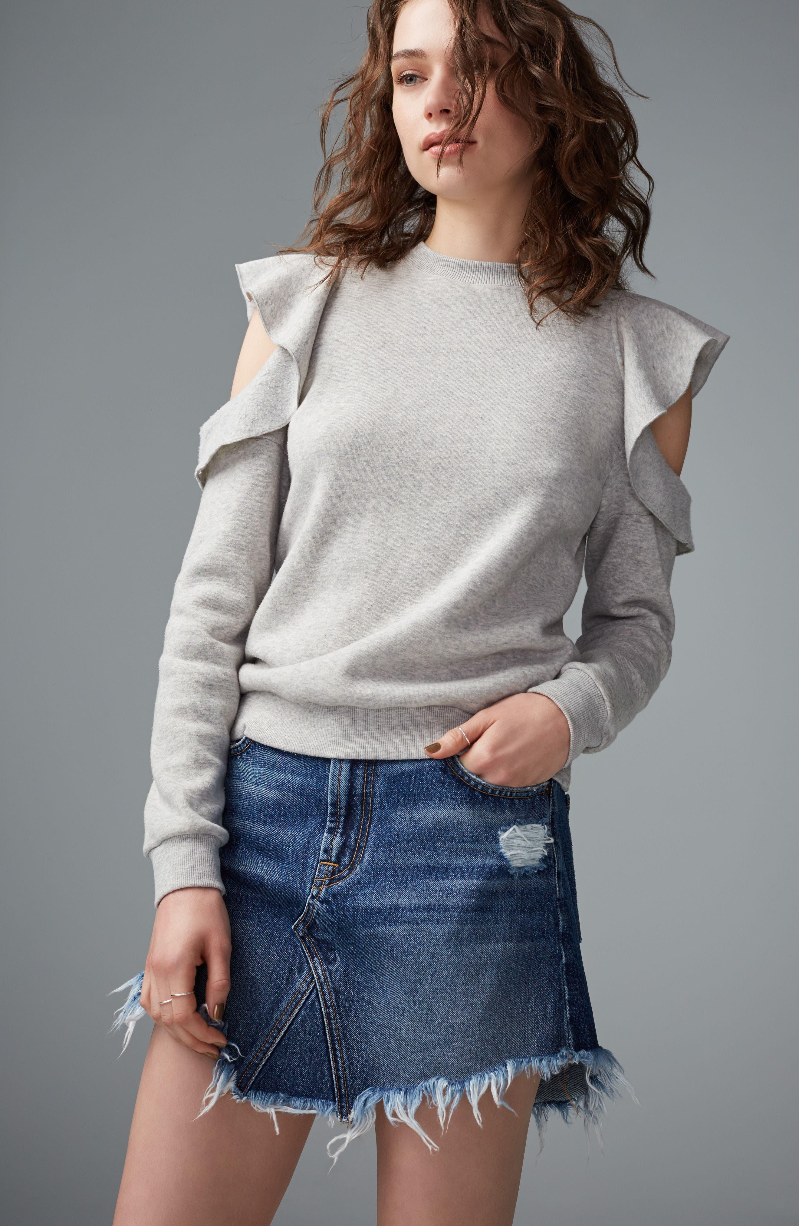 Alternate Image 2  - 7 For All Mankind® Denim Miniskirt