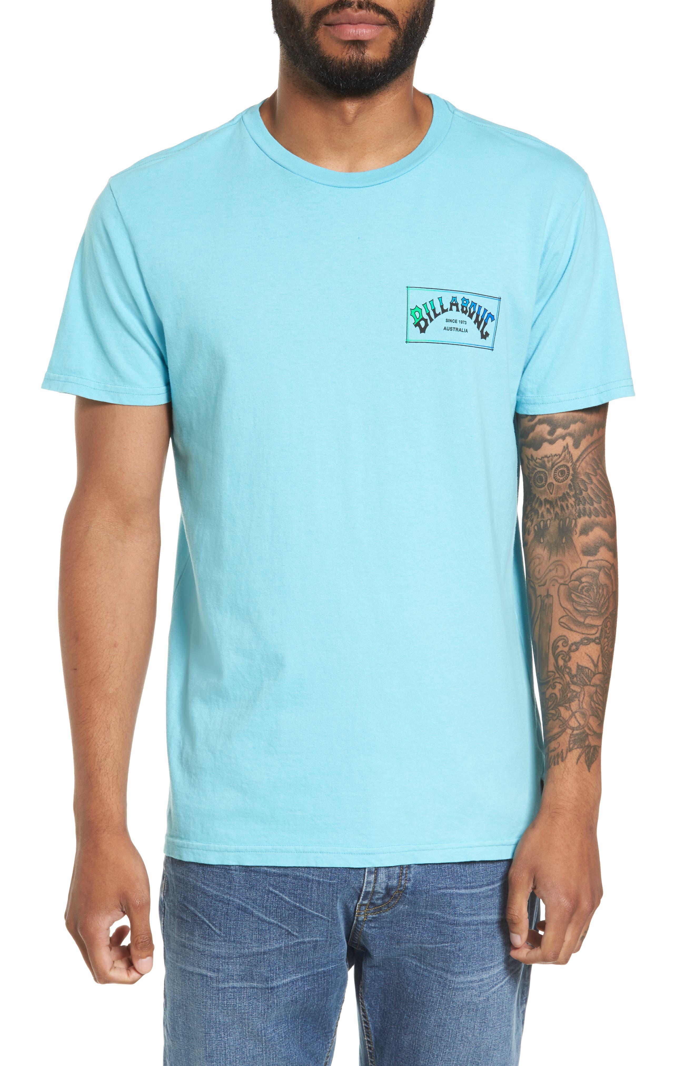 Boxed Arch T-Shirt,                         Main,                         color, Aqua