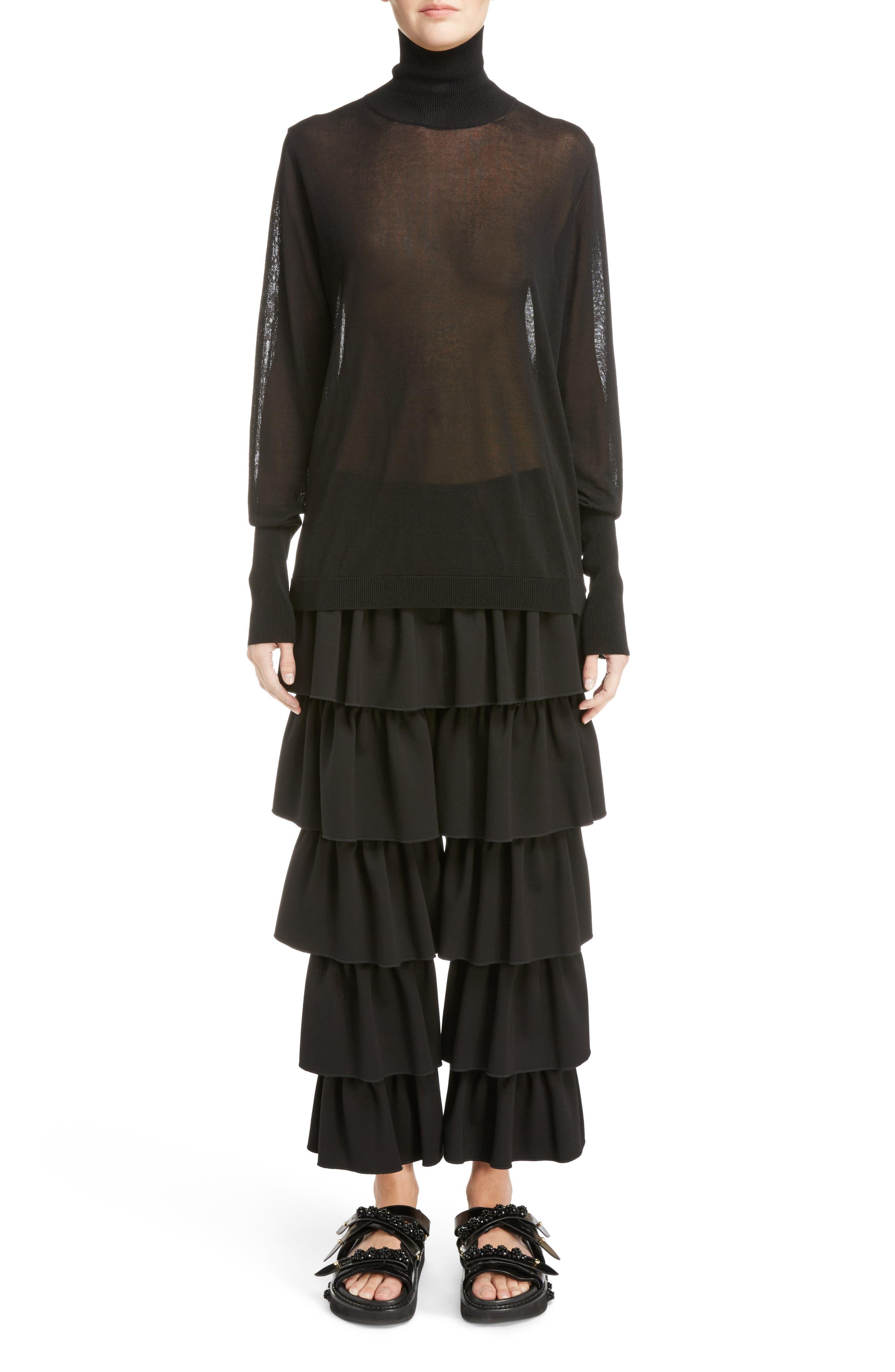 Alternate Image 6  - Simone Rocha Sheer Mock Neck Sweater