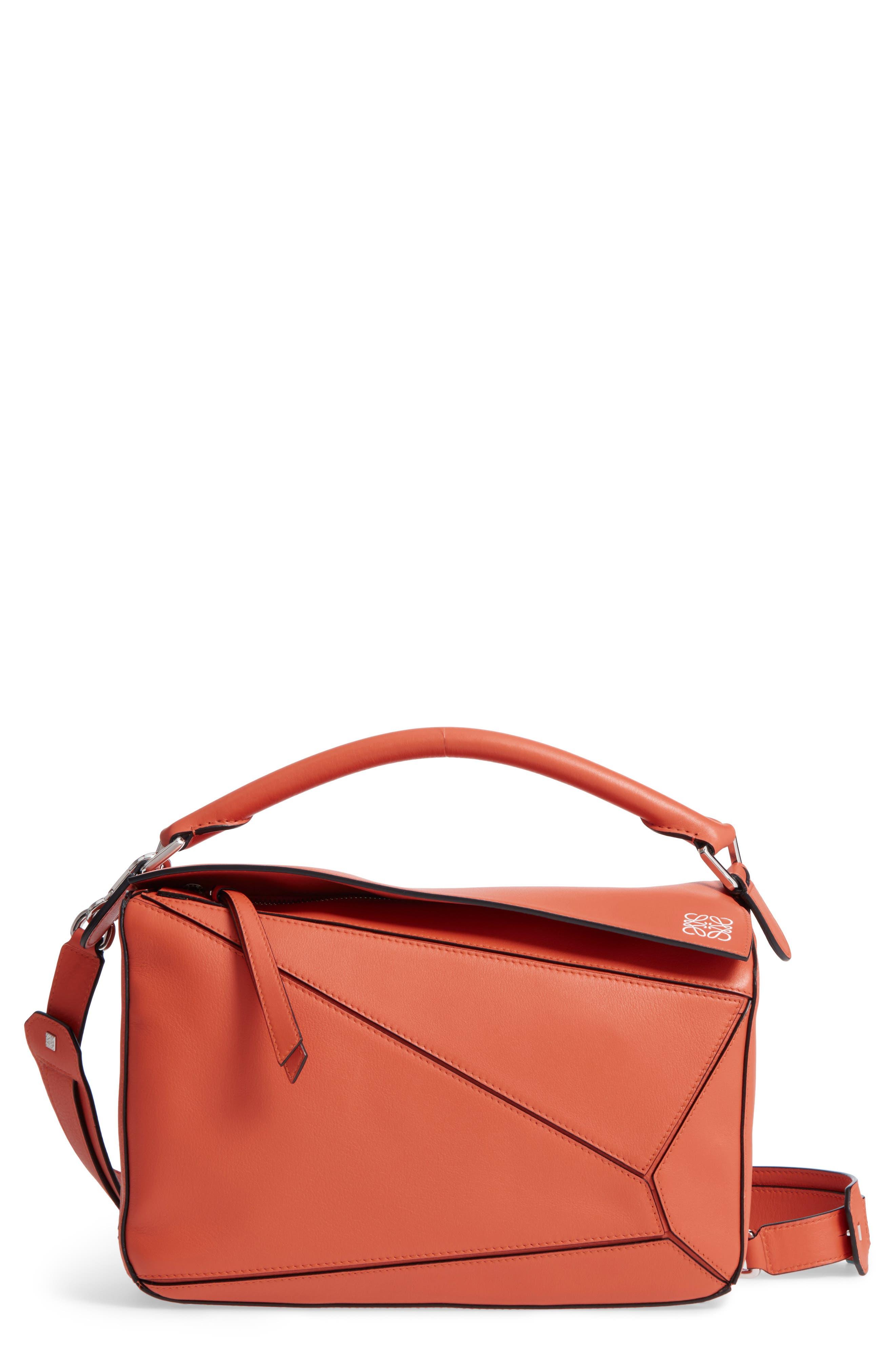 Main Image - Loewe 'Small Puzzle' Calfskin Leather Bag