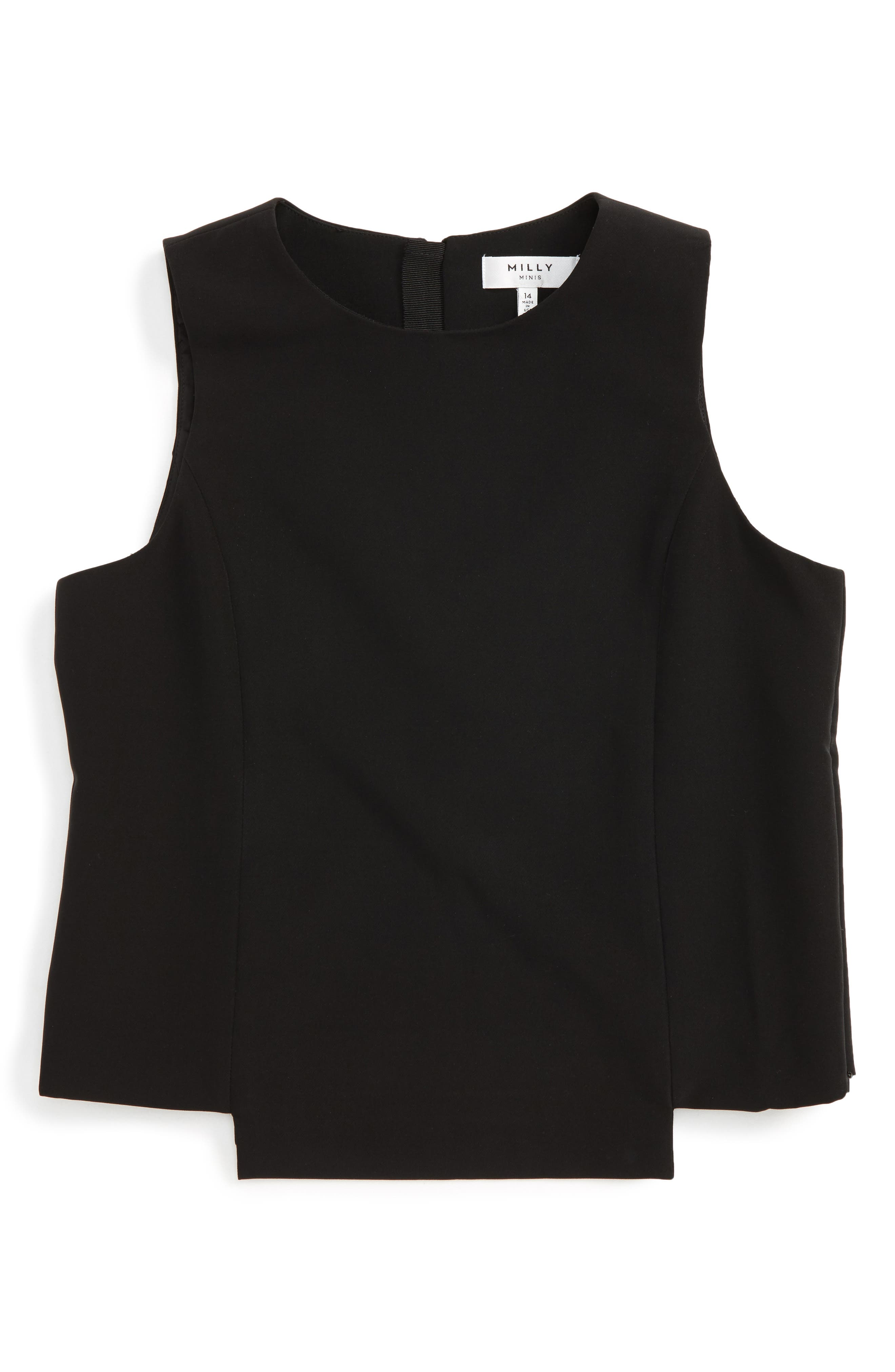 Alternate Image 1 Selected - Milly Minis Cady Sleeveless Top (Big Girls)