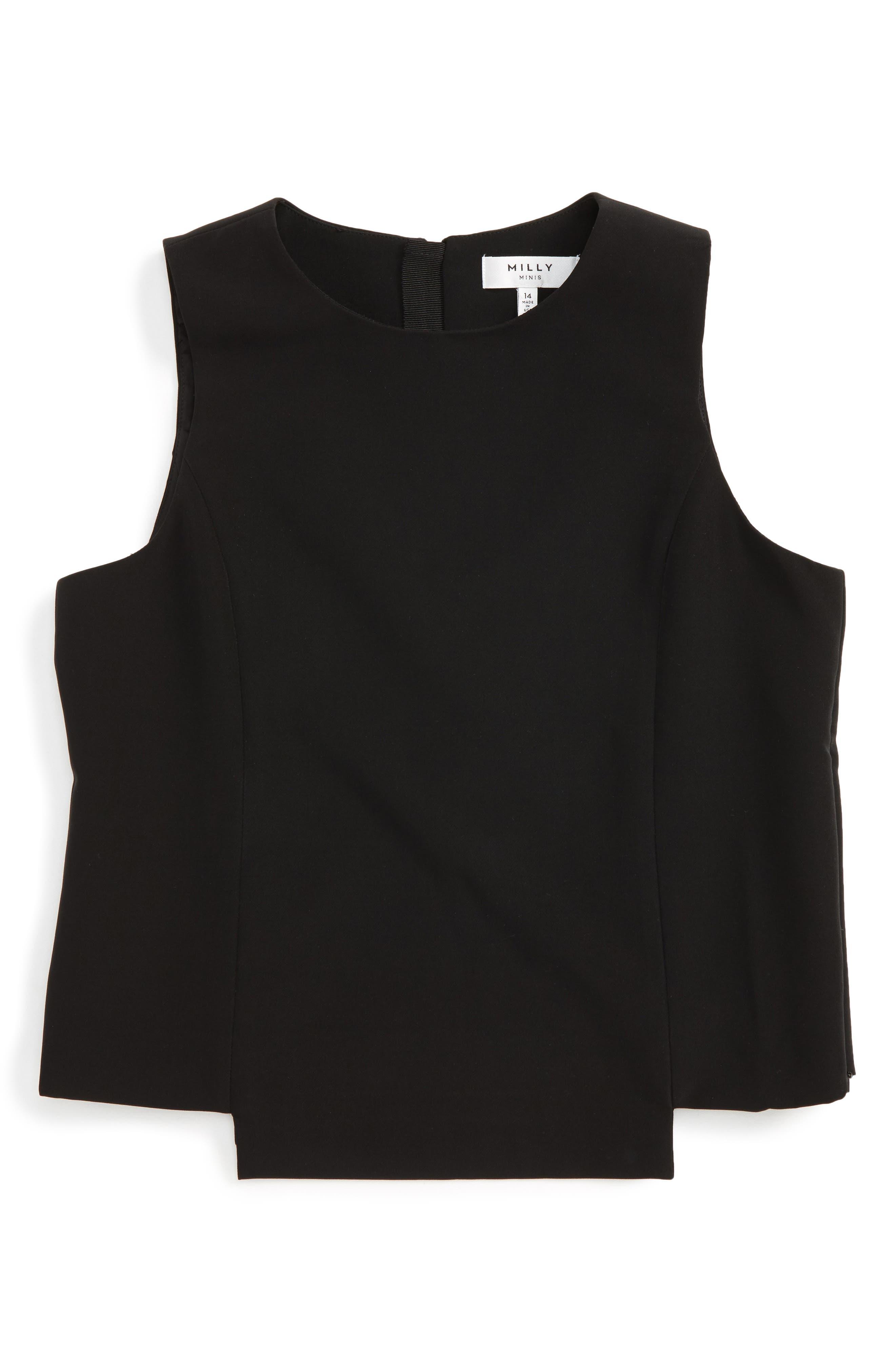 Cady Sleeveless Top,                         Main,                         color, Black